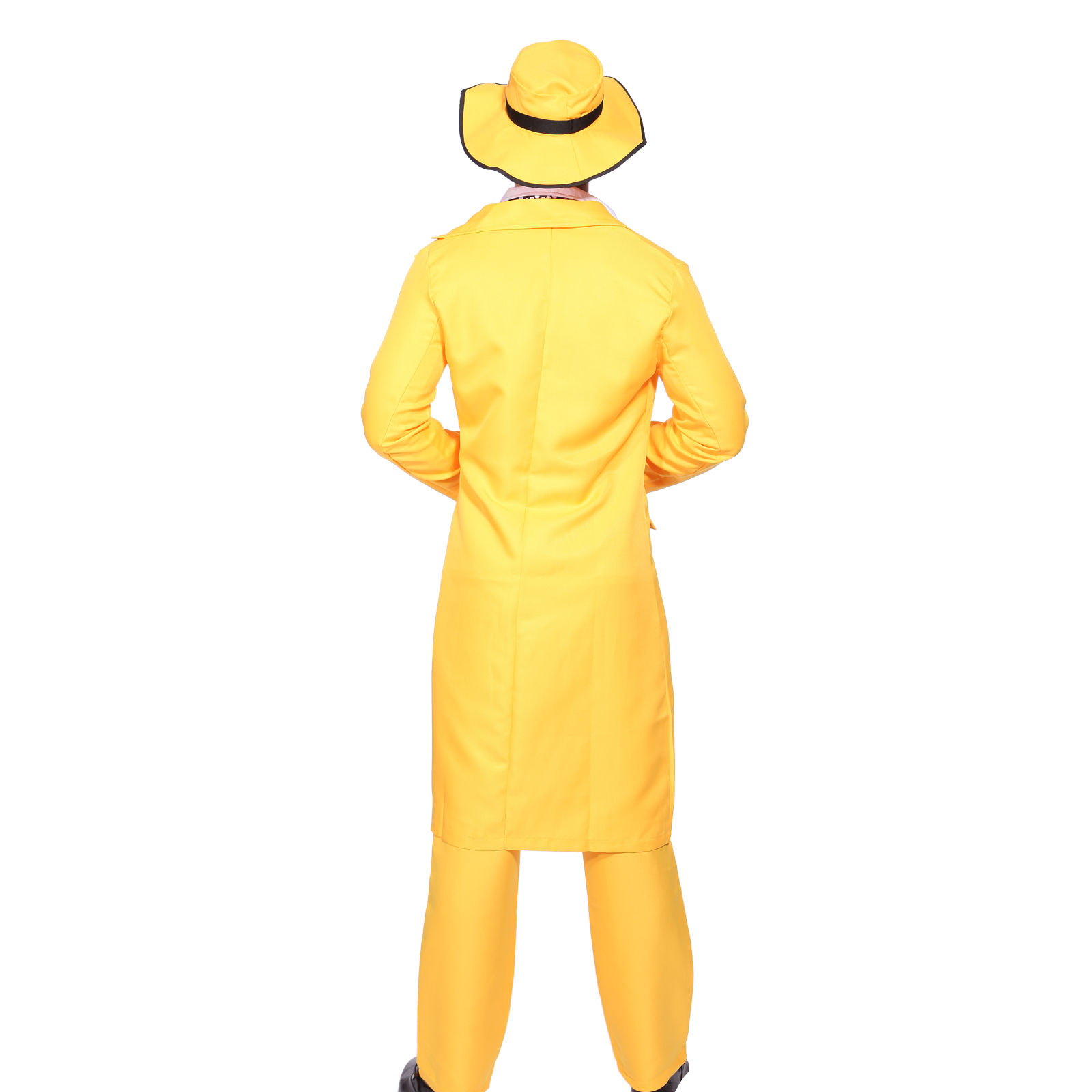 Mens 90s Yellow Gangster Zoot Suit The Mask Jim Carrey Costume ...