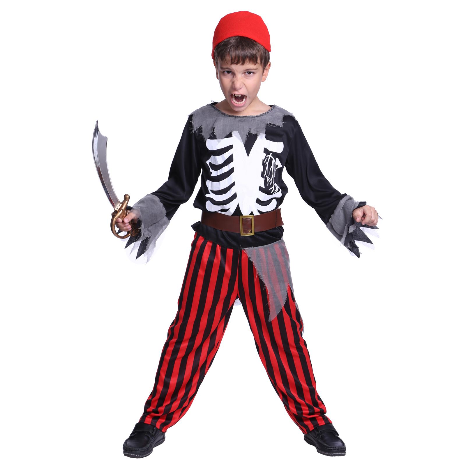 childs kids halloween costume boys girls pirate zombie fancy dress