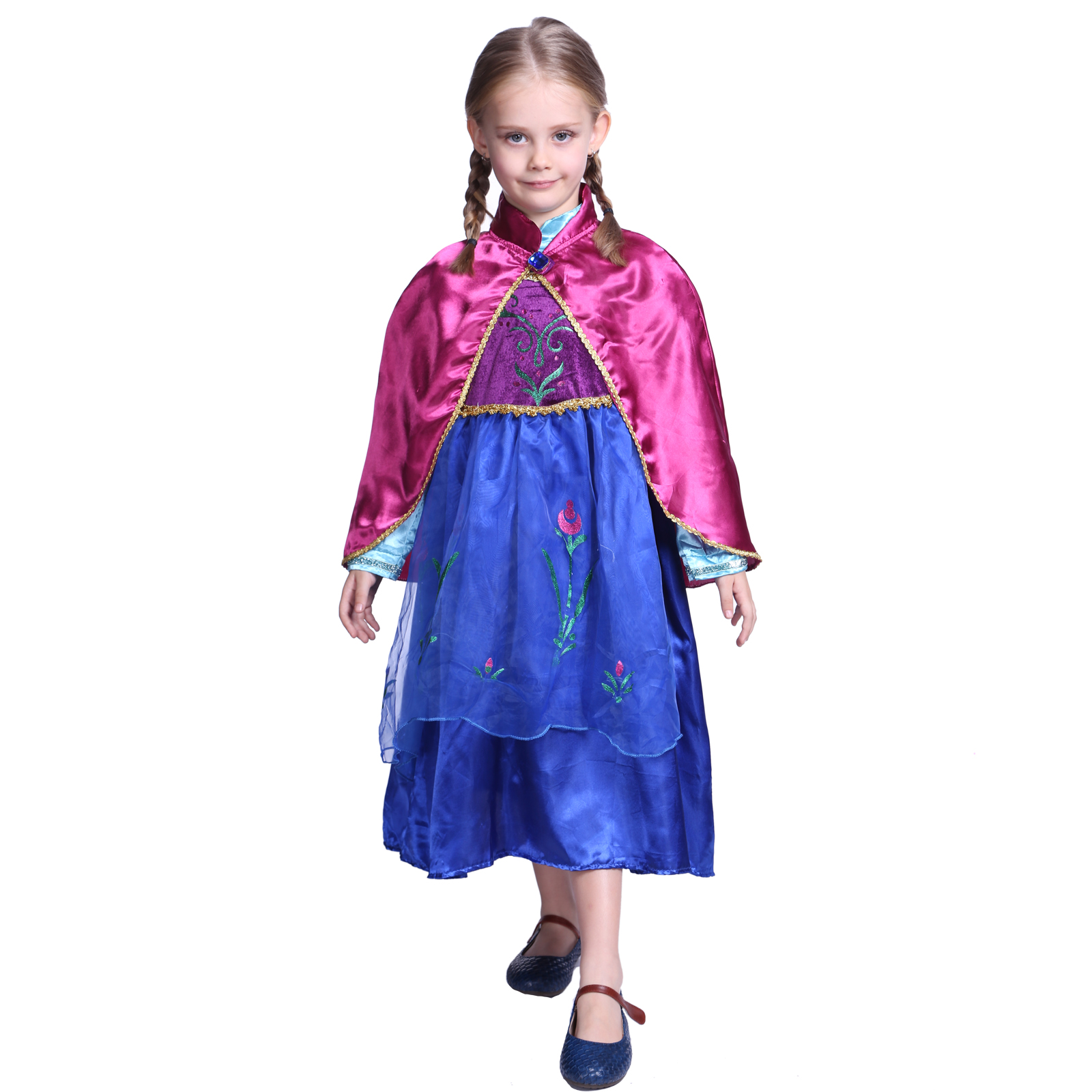 m dchen frozen eisk nigin anna kost m prinzessin fasching karneval kleid party s ebay. Black Bedroom Furniture Sets. Home Design Ideas