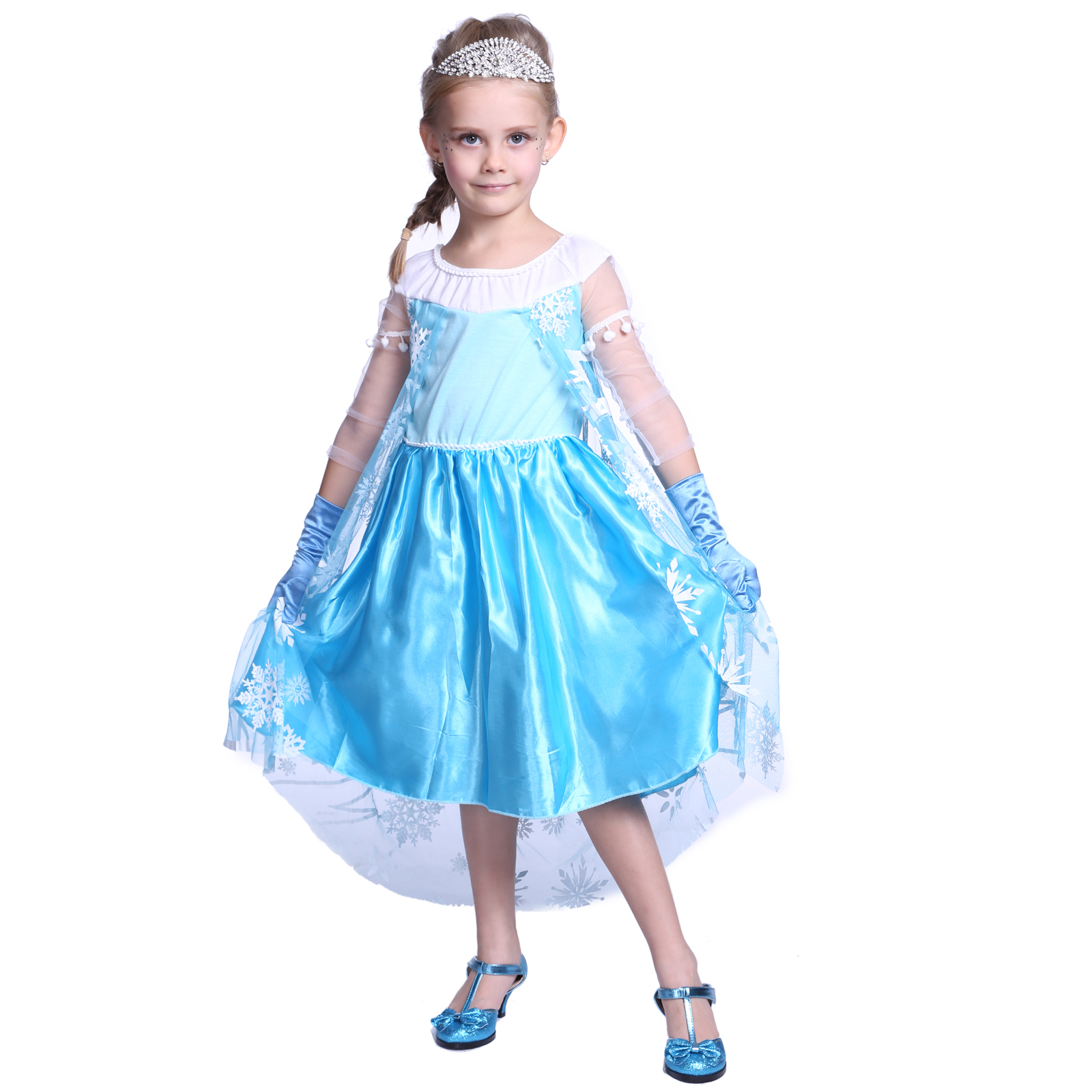 Kids Cosplay Costume Dress Cinderella Elsa Baby Girls: Toddler Baby Kids Girls Dresses Elsa Frozen Princess Anna