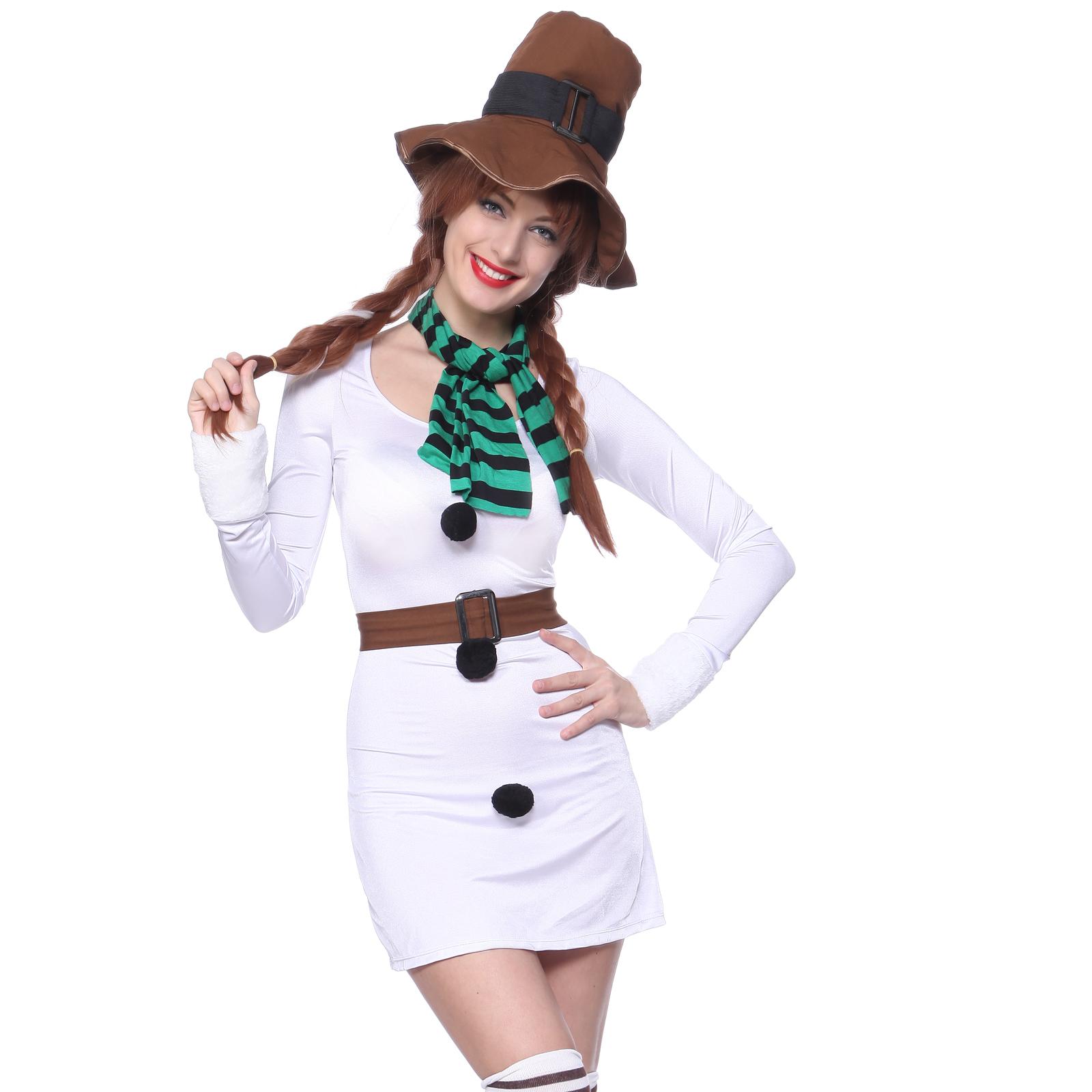 neu schneemann kost m damen weihnachten kleid verkleidung. Black Bedroom Furniture Sets. Home Design Ideas
