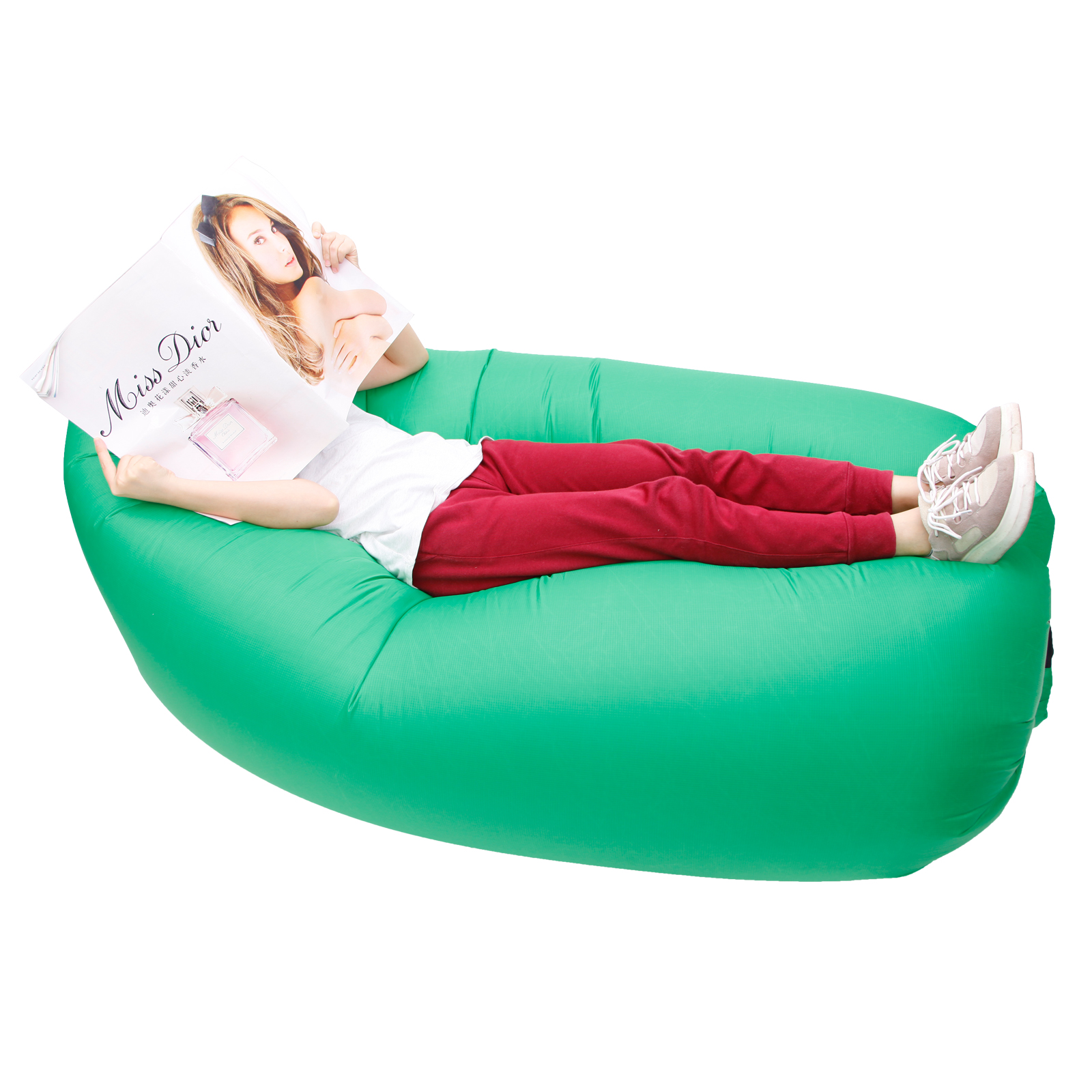 Sof cama hinchable tumbona inflable a aire para playa for Sofa cama inflable