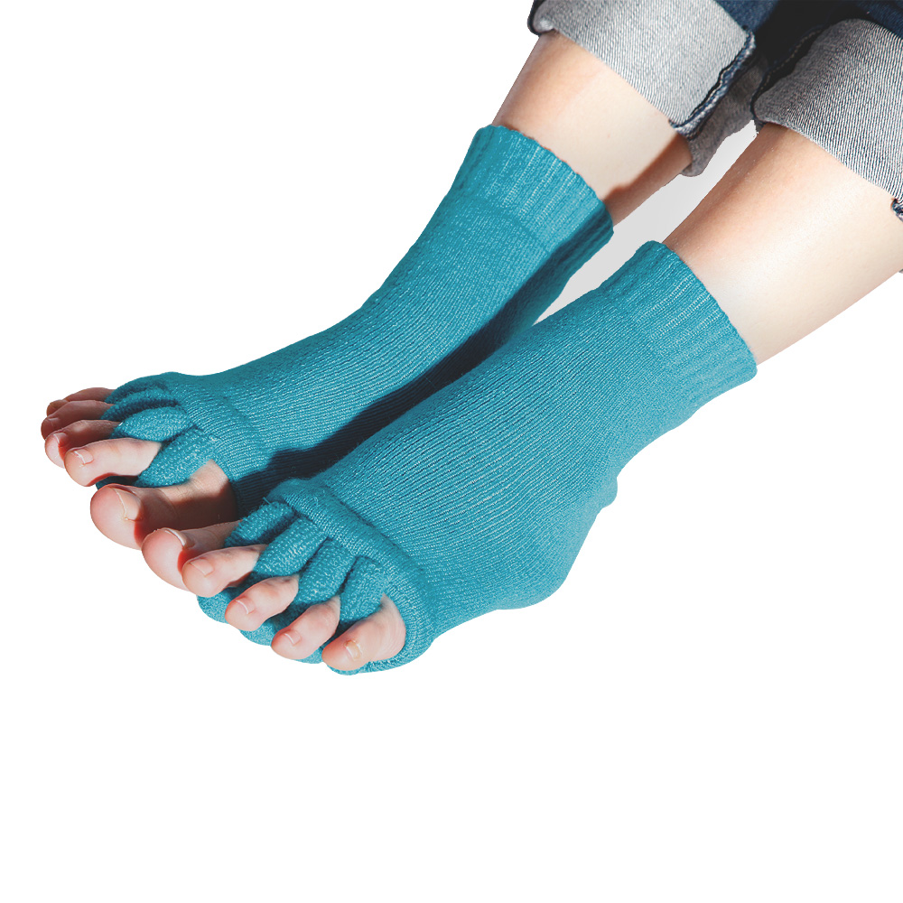 Men/Women Foot Toes Alignment Socks Stretch Tendon Relieve ...