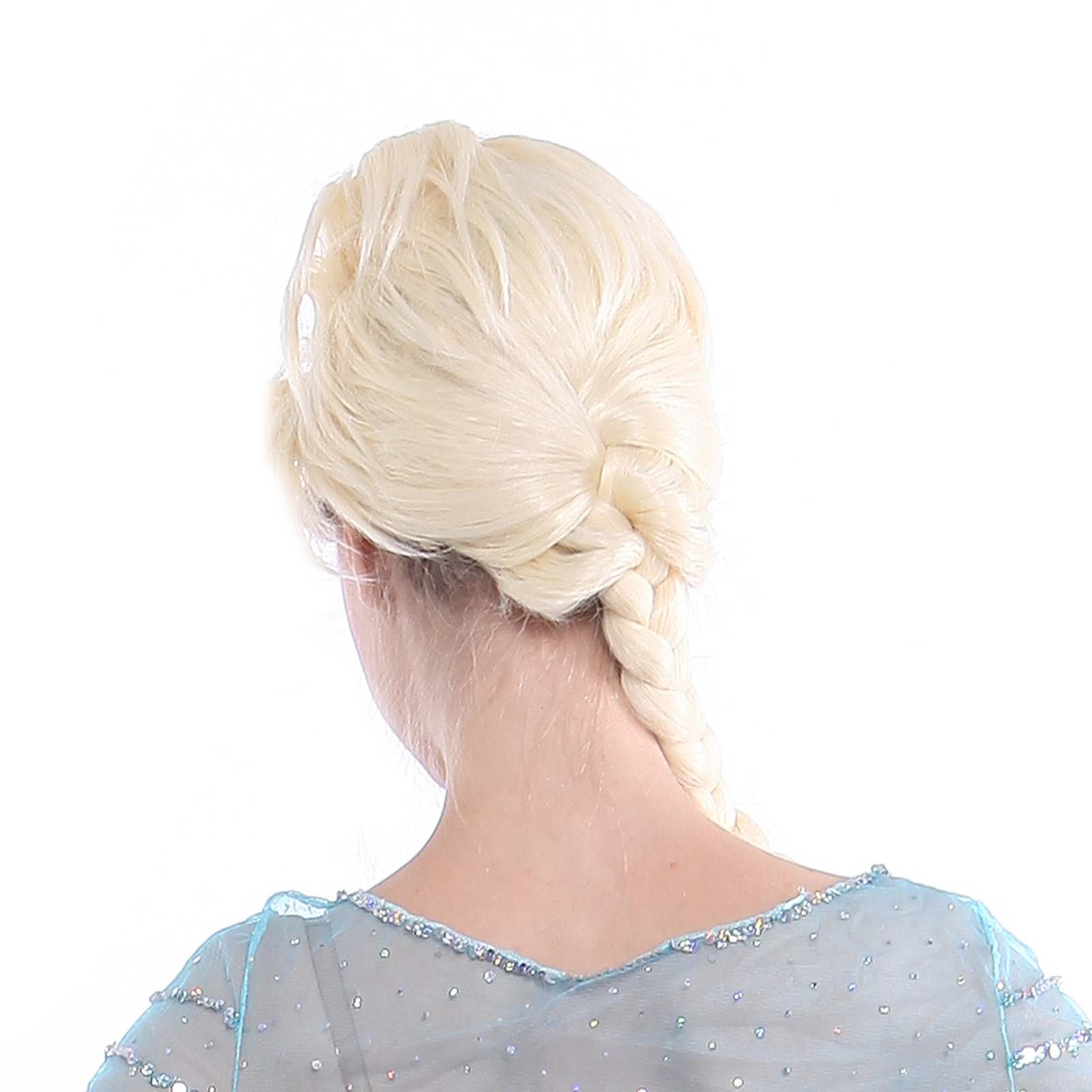 how to put on elsa wig