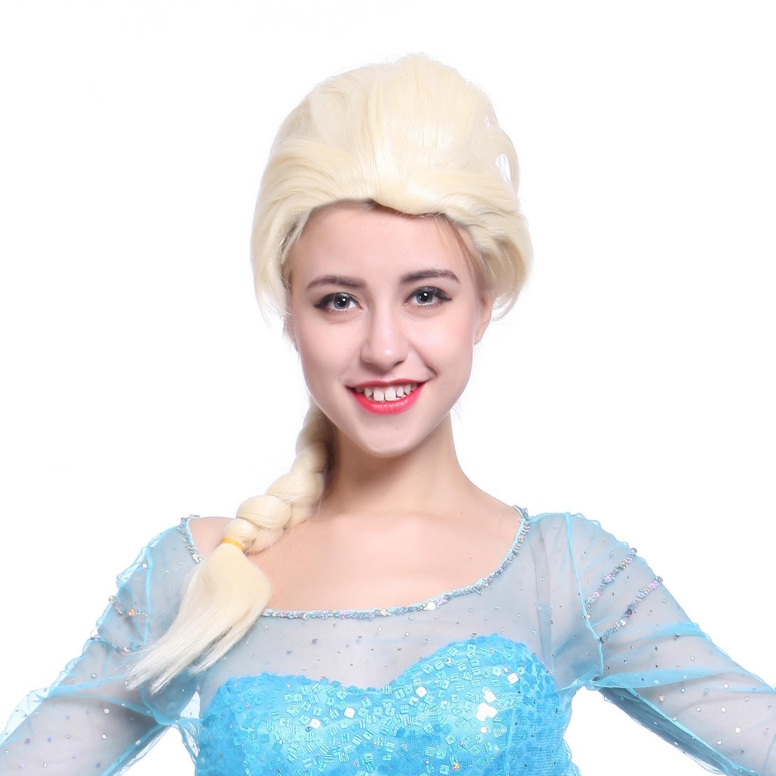 snow queen princess elsa lang zopf cosplay damen m dchen. Black Bedroom Furniture Sets. Home Design Ideas