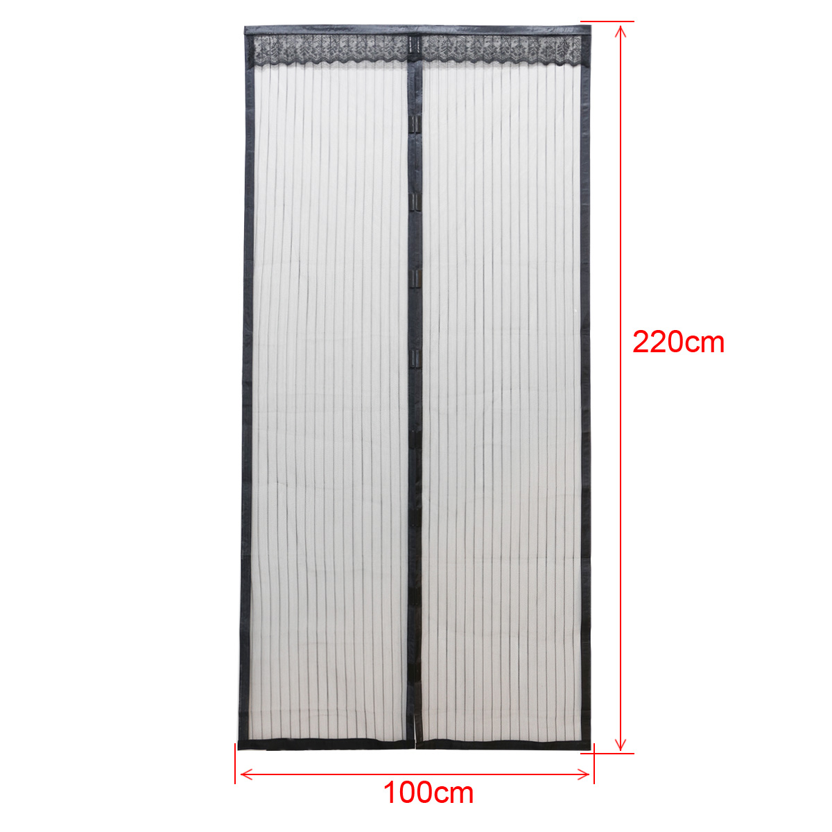 2 Size Mesh Door Curtain Magnetic Insect Mosquito Screen Net White Black Ebay