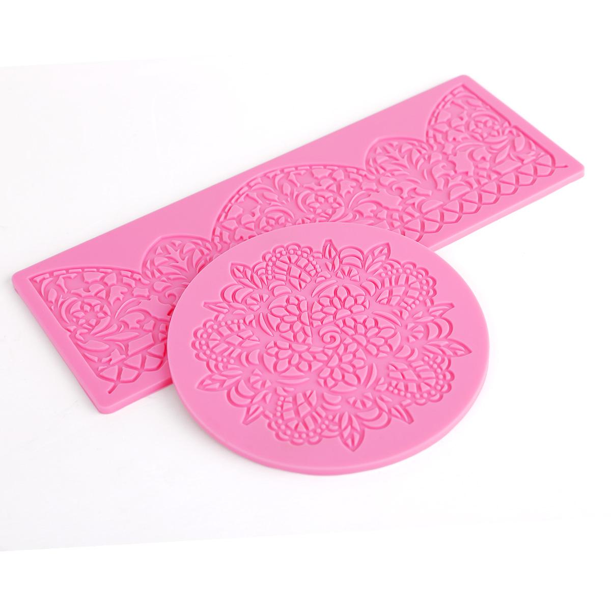 Cake Decorating Lace Molds Uk : Silicone Mold Mould Icing Cake Decorating Cupcake Floral ...