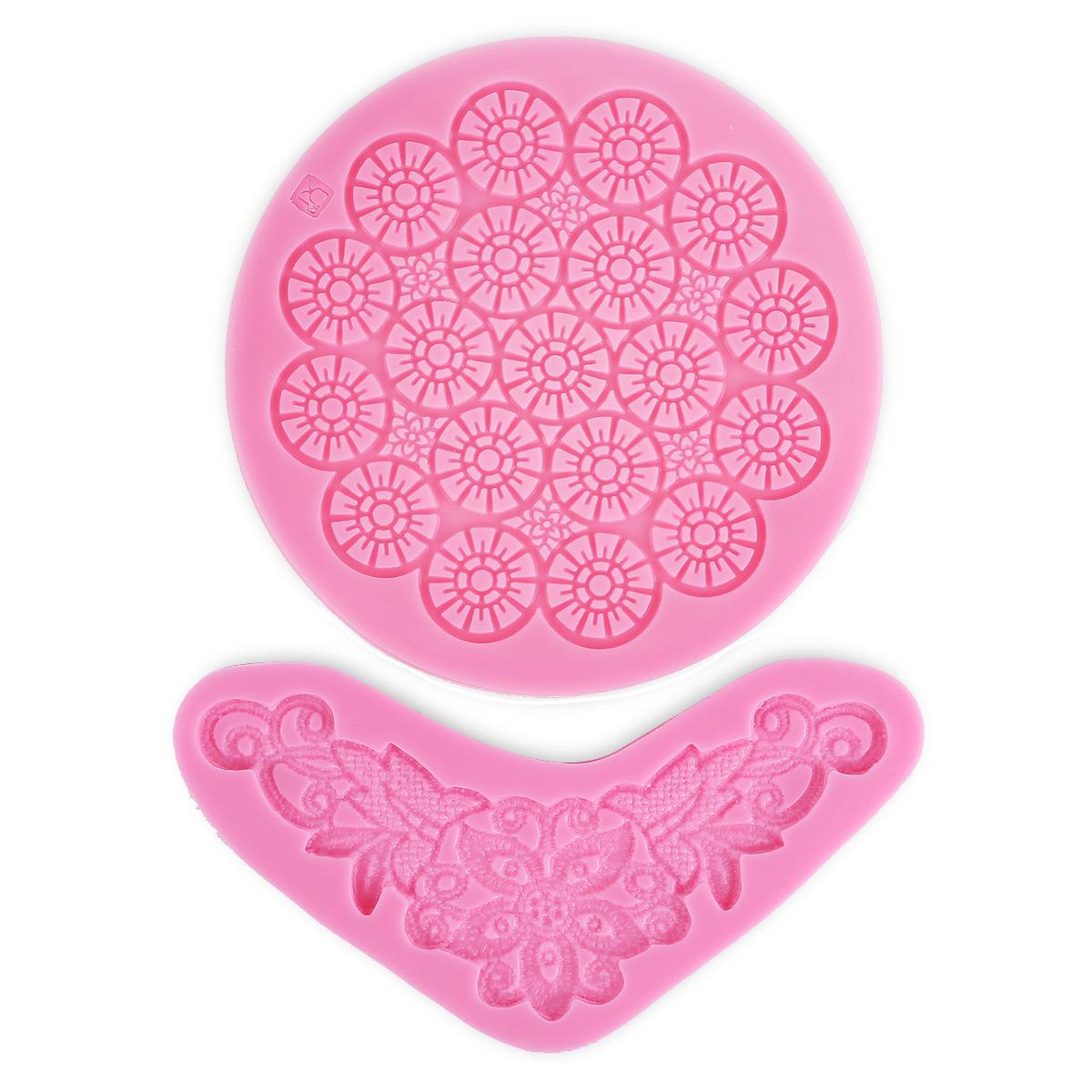 Cake Decorating Lace Molds Uk : 2x Cake decorating silicone icing fondant lace mould Mold ...