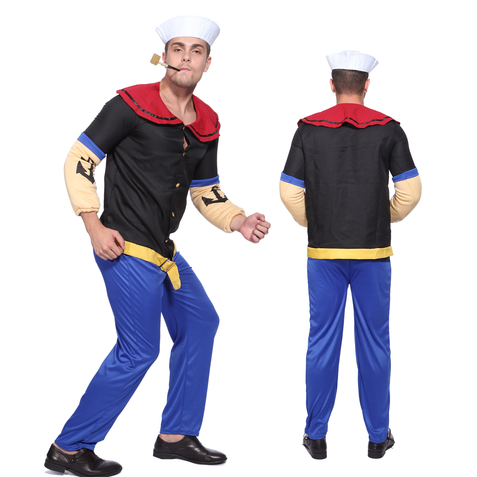 lustig herren karneval verkleidung popeye kost m matrose der seemann gr e m ebay. Black Bedroom Furniture Sets. Home Design Ideas