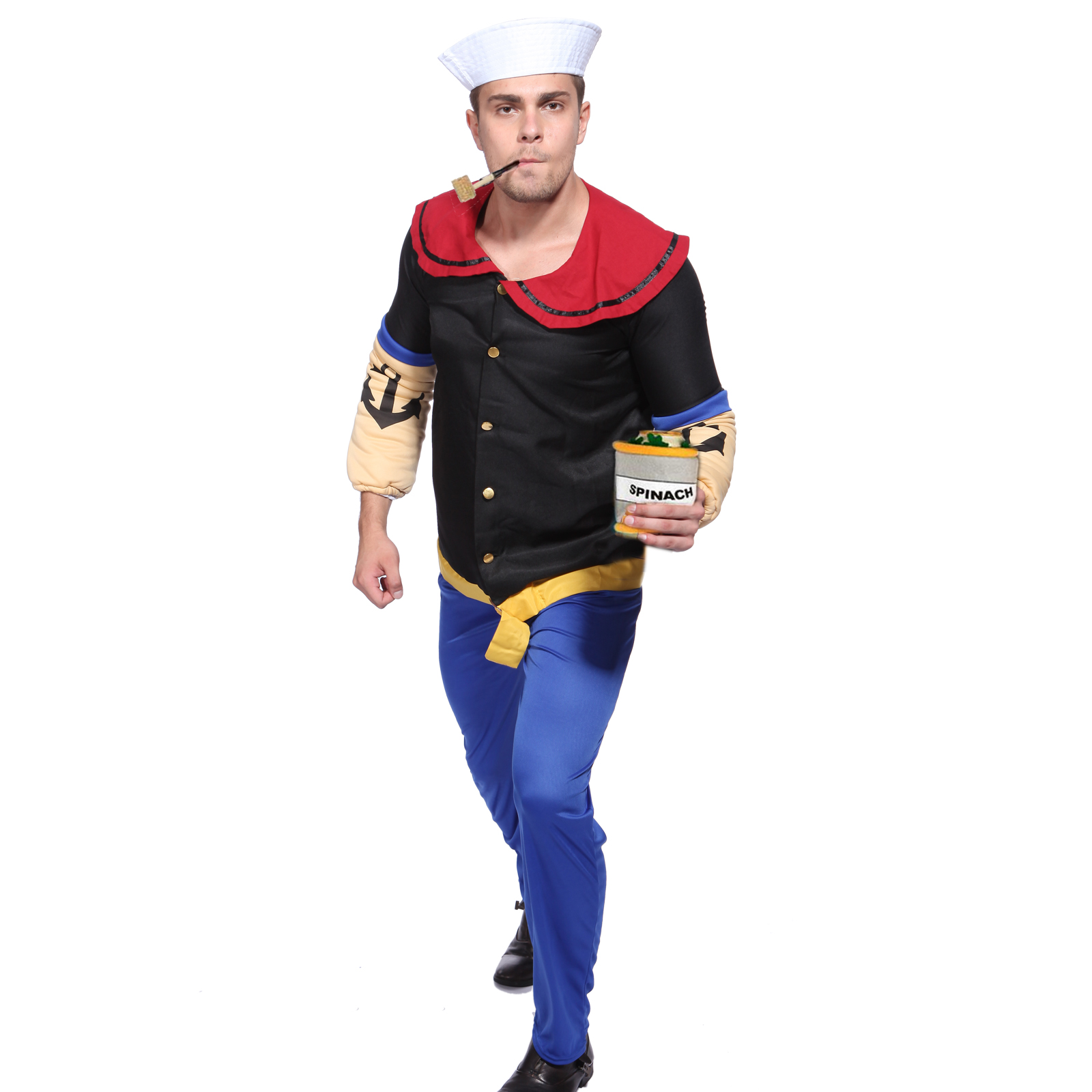herren fasching verkleidung popeye kost m matrose der seemann halloween party ebay. Black Bedroom Furniture Sets. Home Design Ideas