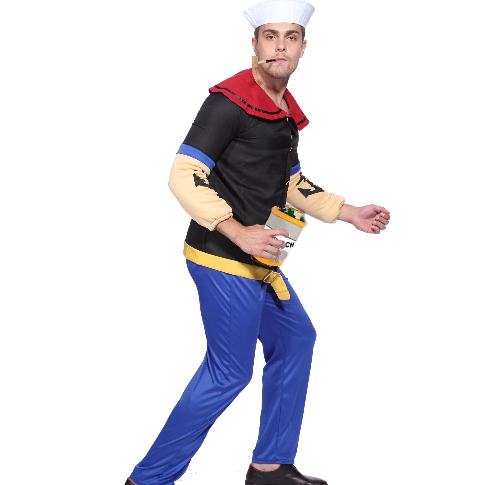 lustig herren karneval verkleidung popeye kost m matrose der seemann gr e m ebay. Black Bedroom Furniture Sets. Home Design Ideas
