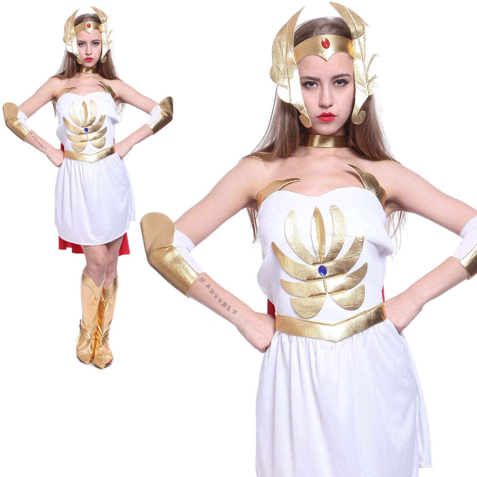 Costume-Robe-Deguisement-Chevaliere-Medieval-Maitre-de-l-039-Univers-Cape-Carnaval