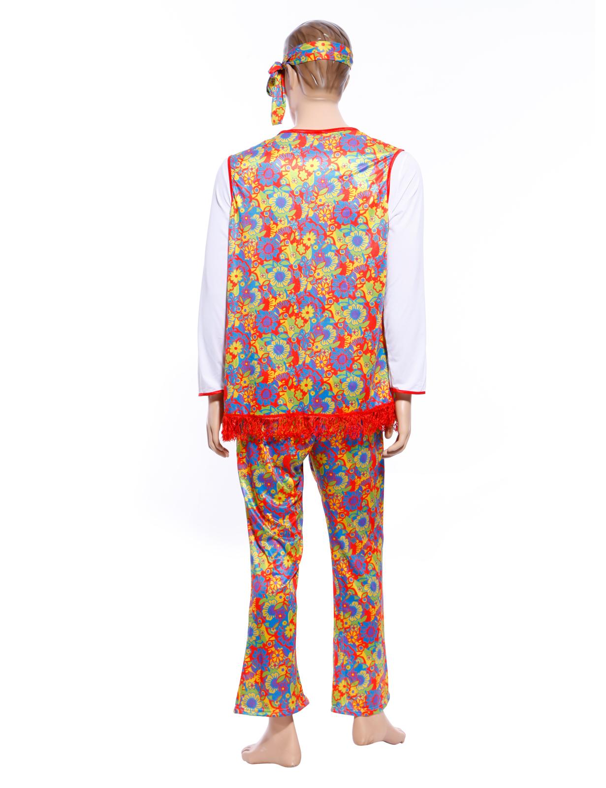 costume d guisement tenue combinaison homme annee 60 70 hippy hippie retro gogo ebay. Black Bedroom Furniture Sets. Home Design Ideas