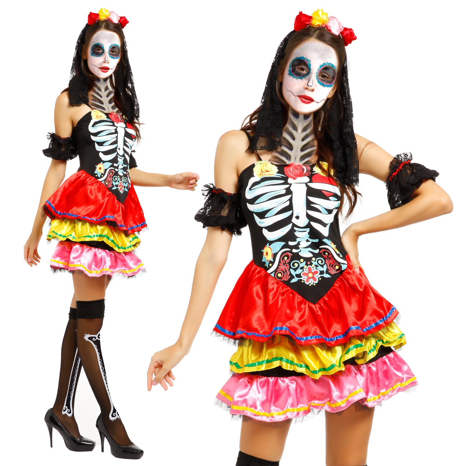 halloween zombie blutige horror kleider braut gefangene skelett m lhorror kost m ebay. Black Bedroom Furniture Sets. Home Design Ideas
