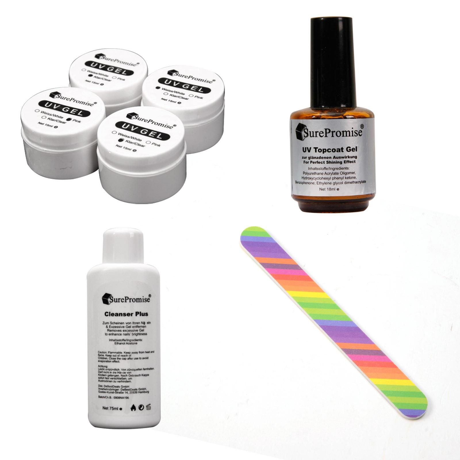 nail art uv gel starter kit topcoat cleanser glue brushes. Black Bedroom Furniture Sets. Home Design Ideas