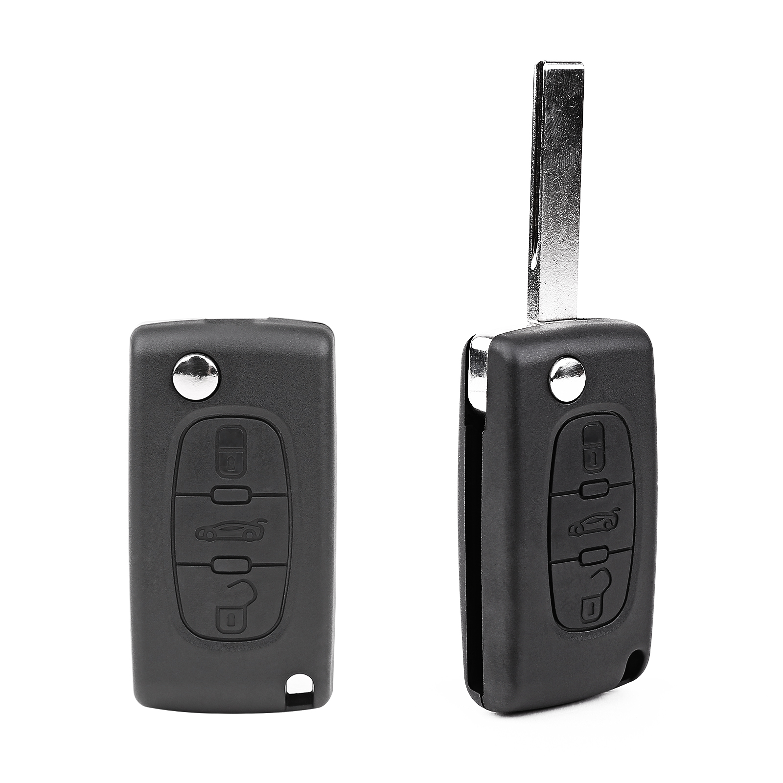 for citroen c4 grand picasso 3 button remote control key fob case blade replace ebay. Black Bedroom Furniture Sets. Home Design Ideas