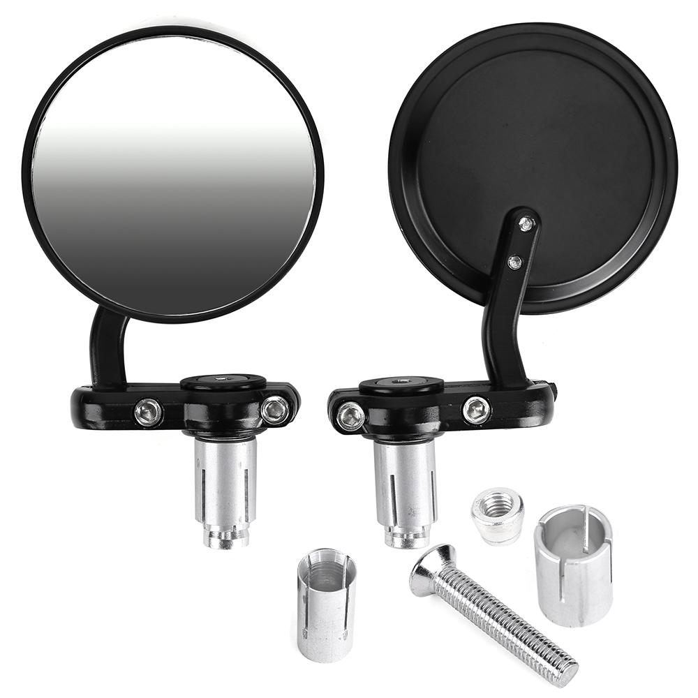 Motorrad lenkerenden spiegel motorradspiegel for Spiegel rund schwarz
