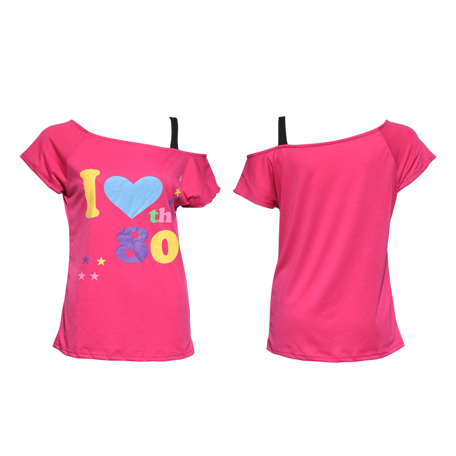 1980s pop star i love the 80s t shirt tee top costume pink. Black Bedroom Furniture Sets. Home Design Ideas