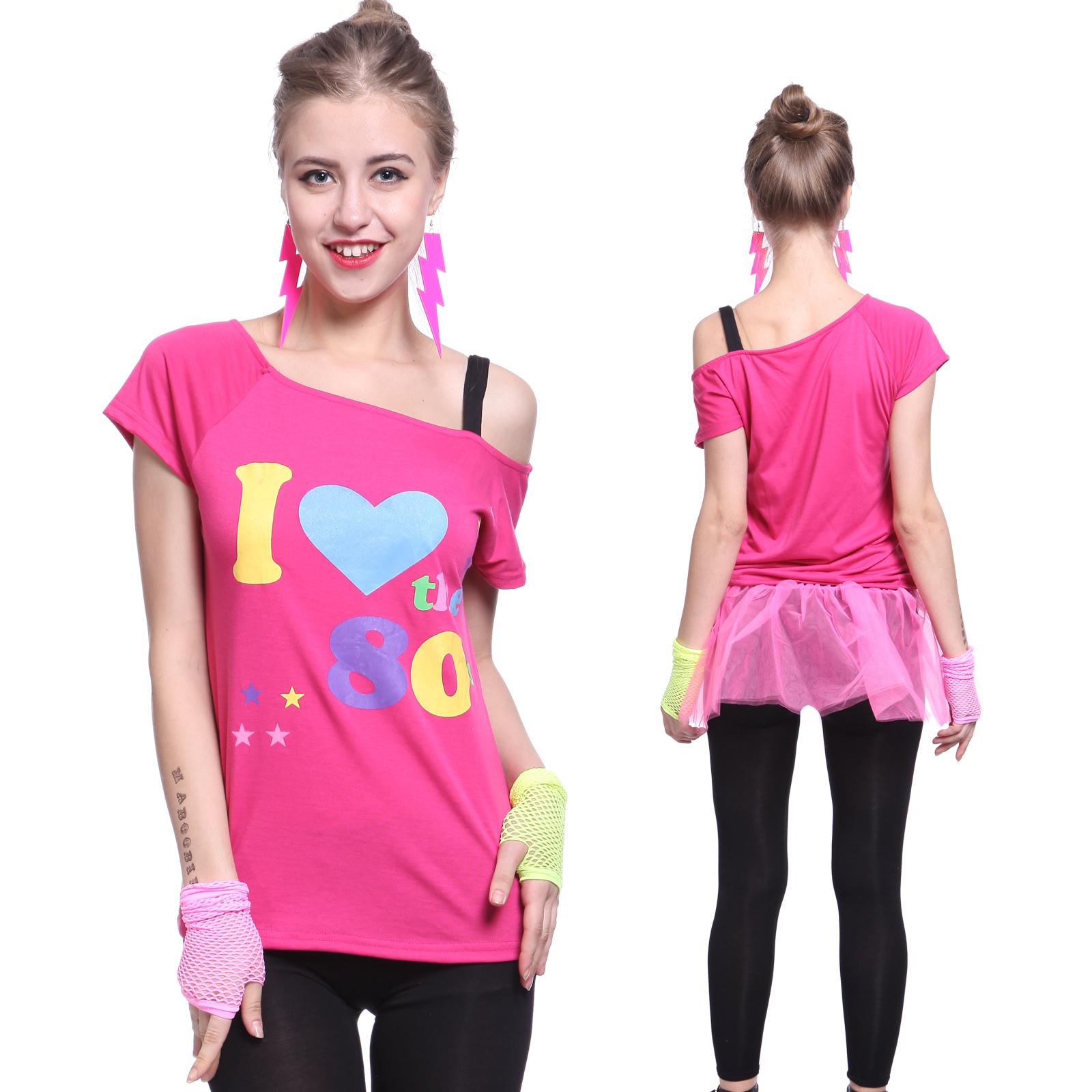 80s Fashion For Women T Shirts Ladies I Love The s Top