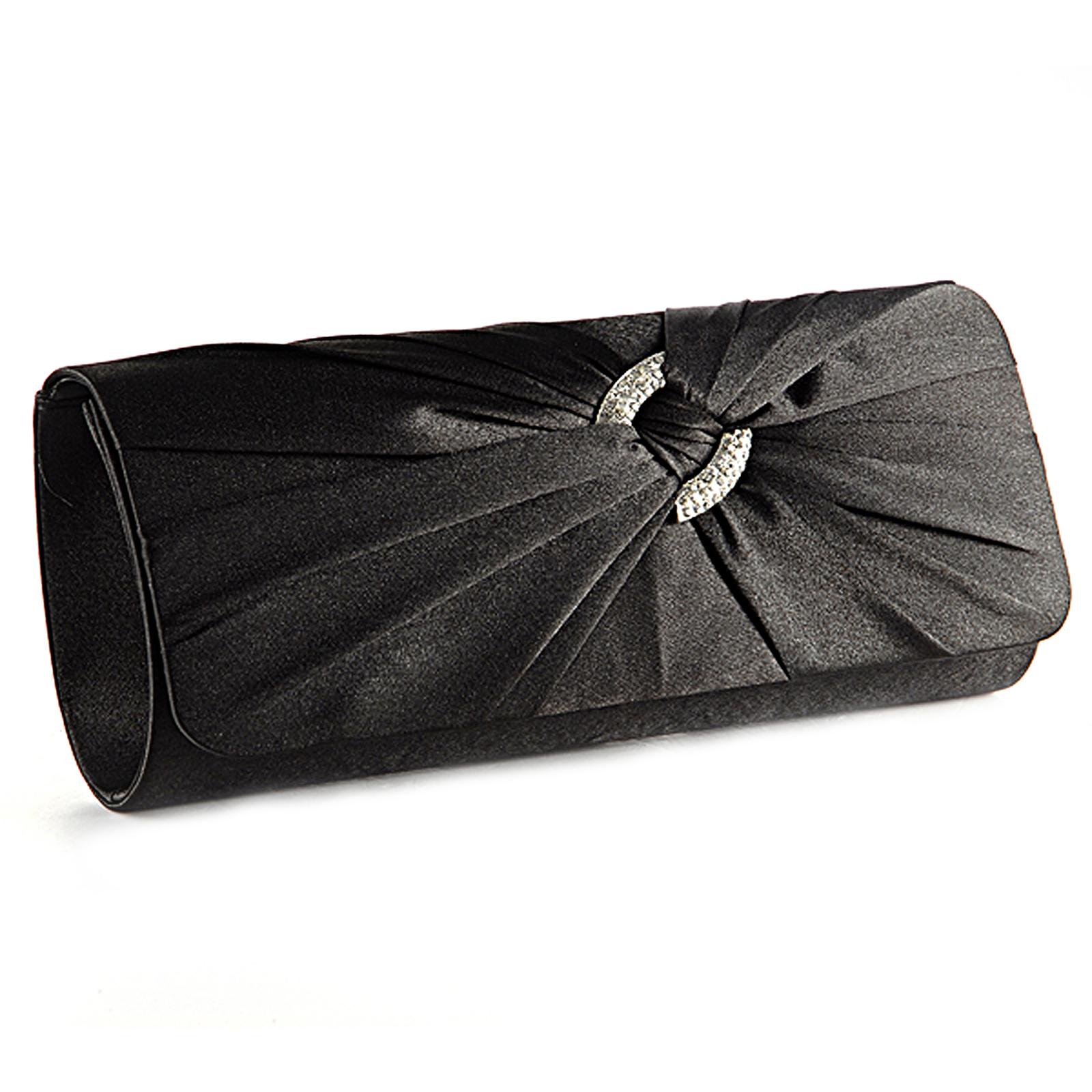 Abendtasche-Clutch-Bag-Satin-Tasche-Handtasche-Brauttasche-Strasse-fuer-Hochzeit