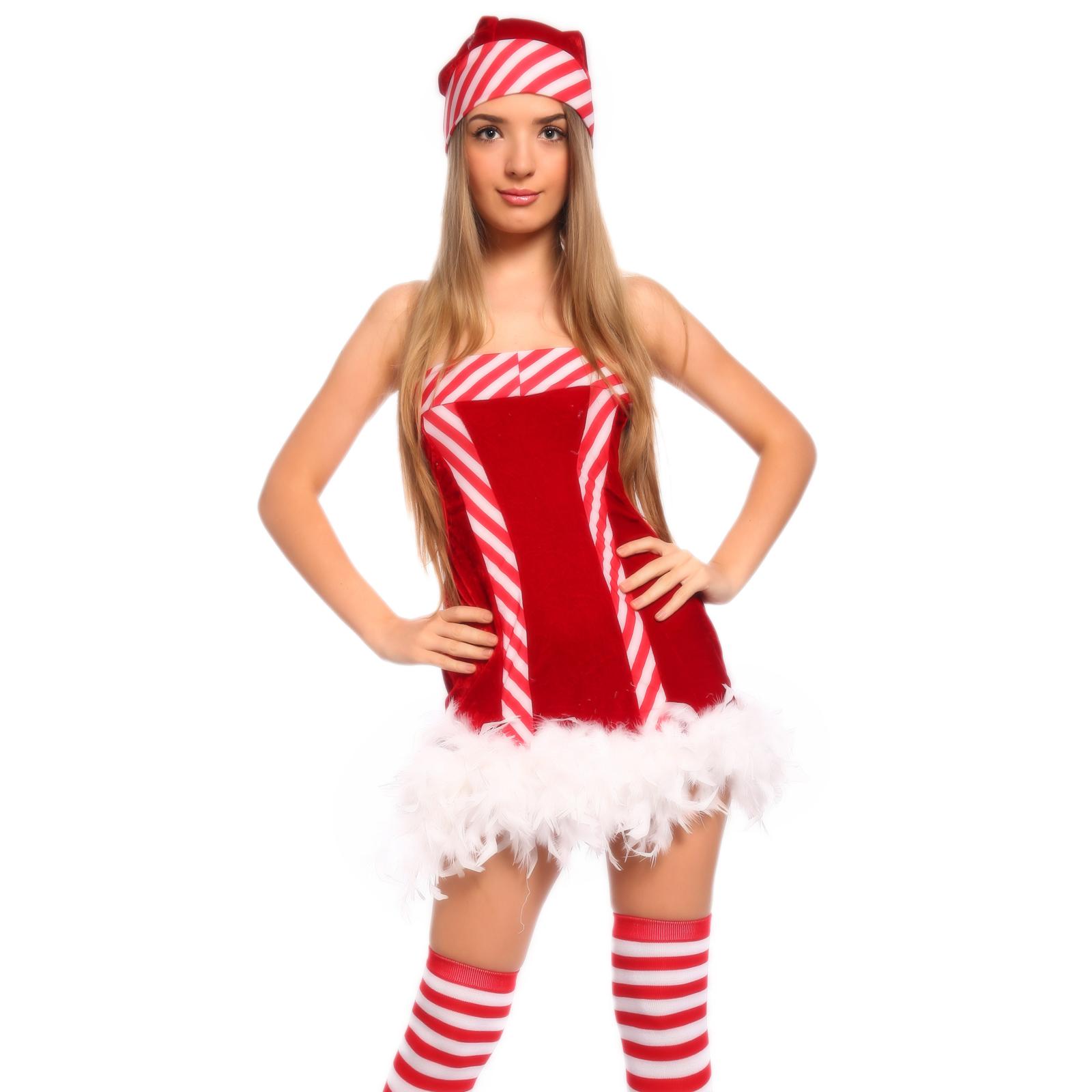 Sexy miss santa claus costume fancy dress christmas xmas