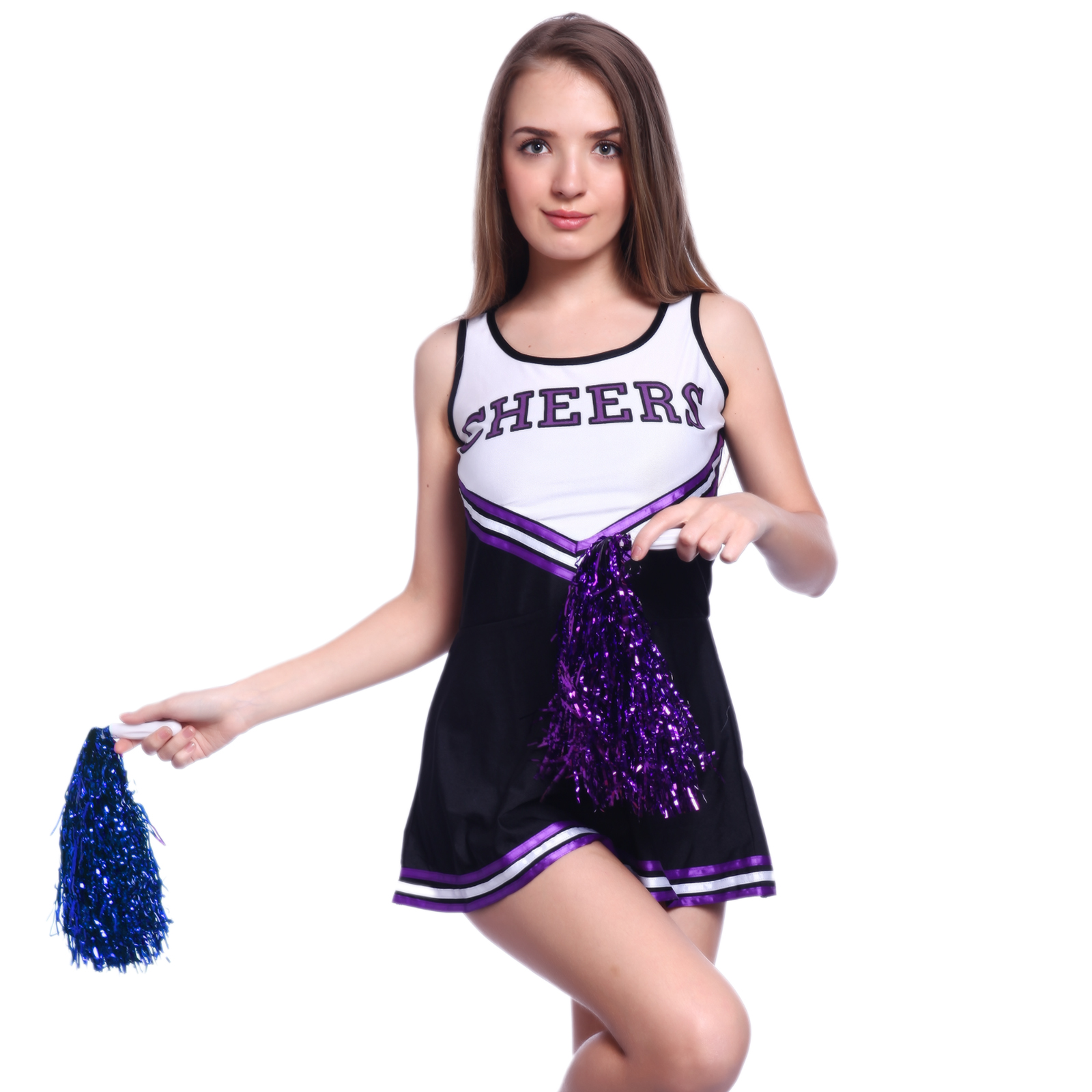6 Colours Ladies Cheerleader Costume Cheerleading Outfits Girls Clothes Costumes | eBay