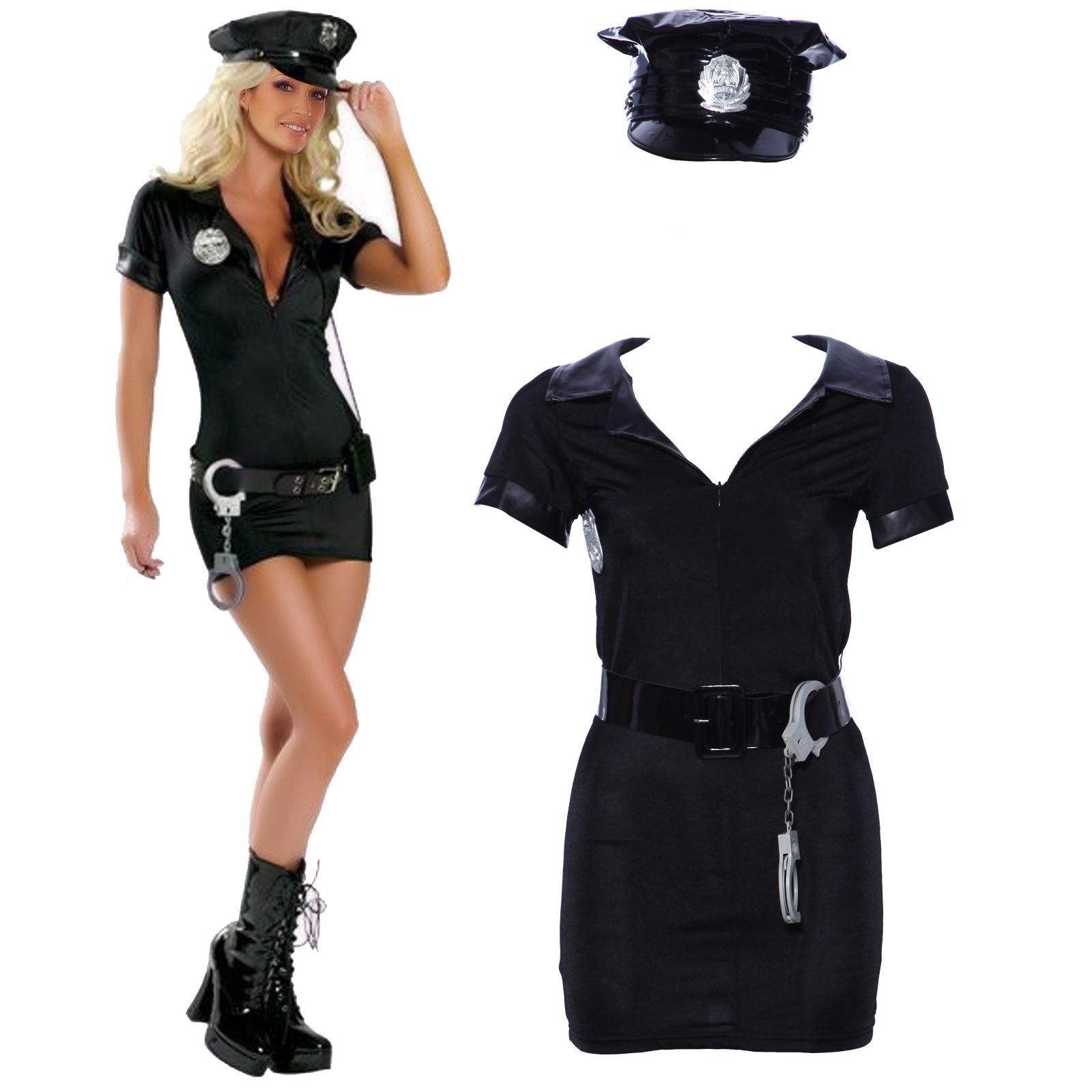 70e5024bae3 Sexy Police Women Ladies Officer Cop Costume Uniform Fancy .