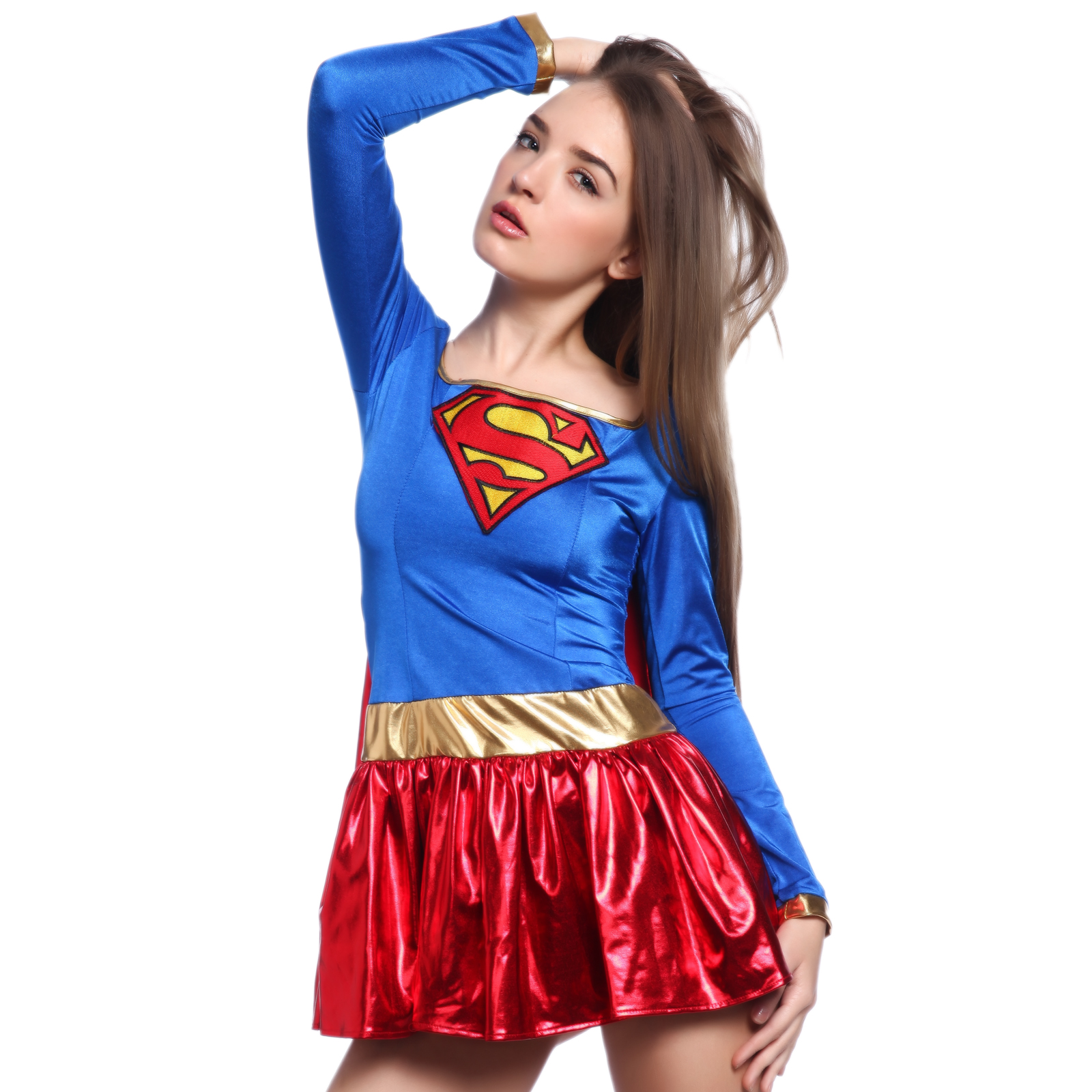 super 2tlg supergirl kost m damen superwomen superman. Black Bedroom Furniture Sets. Home Design Ideas