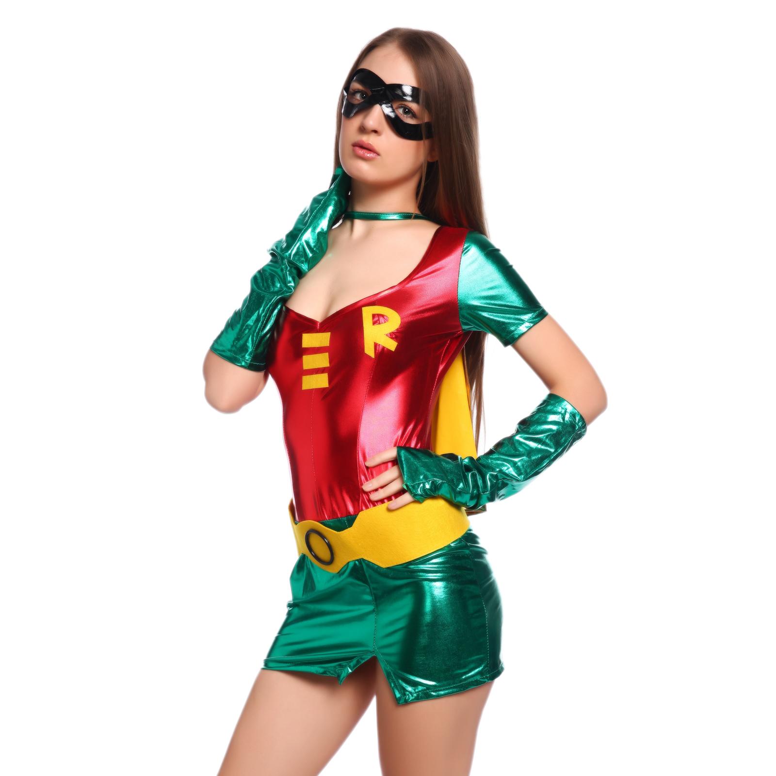 Cotume-Deguisement-Sexy-Robin-Heroine-Superhero-Femme-Halloween-Carnaval-S-M-L
