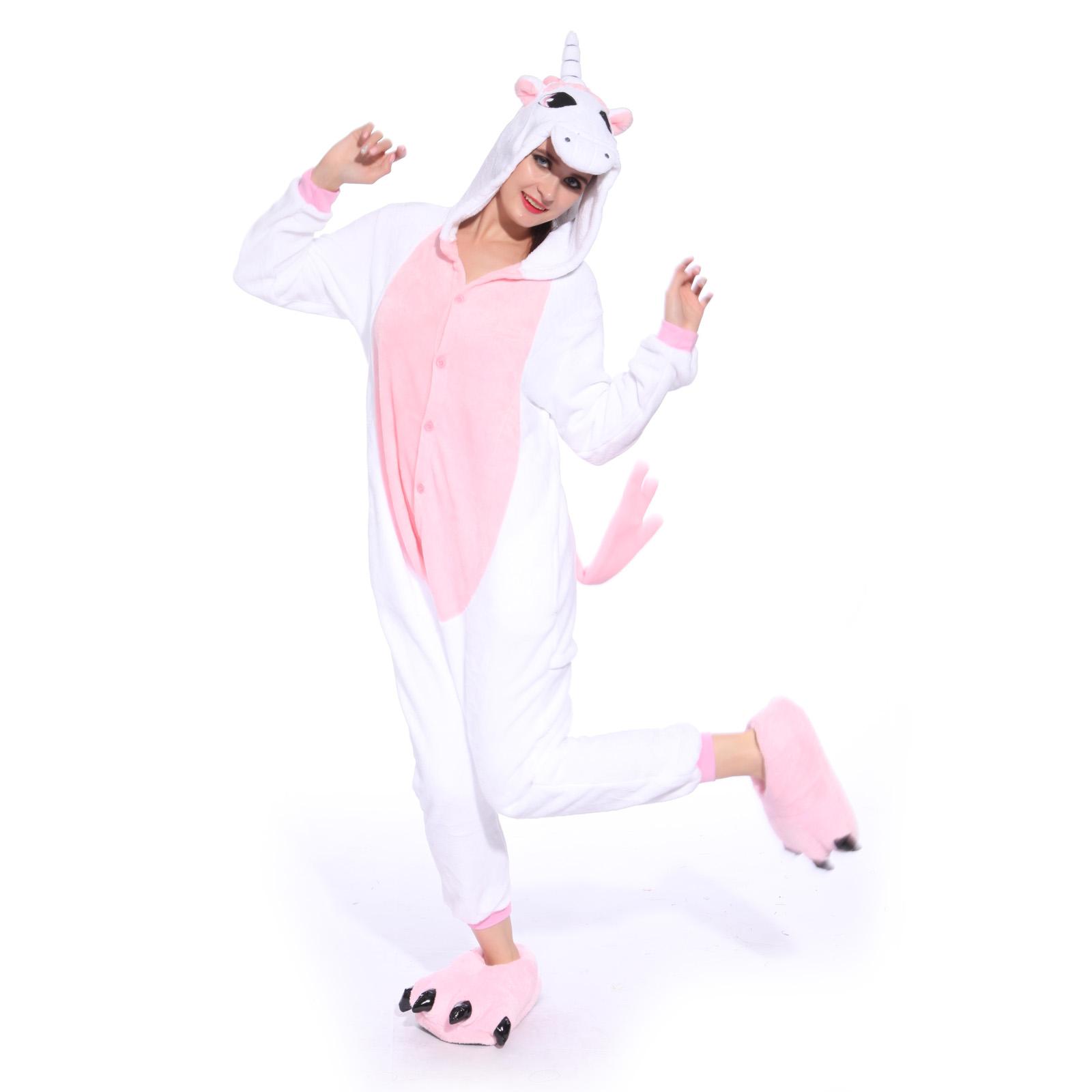 hot unisex unicorn kigurumi pajamas animal cosplay costume. Black Bedroom Furniture Sets. Home Design Ideas