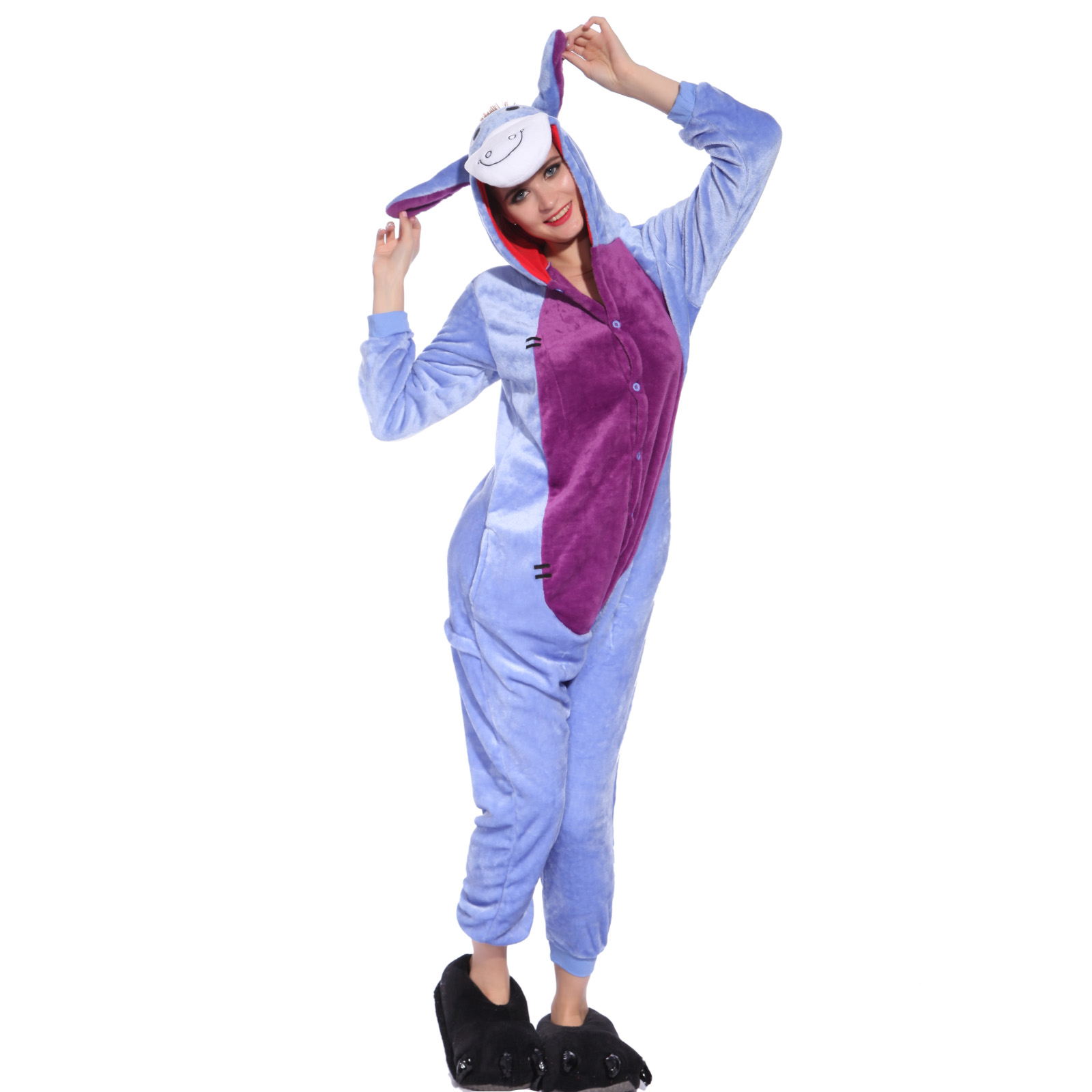 hot unisex adult pajamas kigurumi cosplay costume animal. Black Bedroom Furniture Sets. Home Design Ideas
