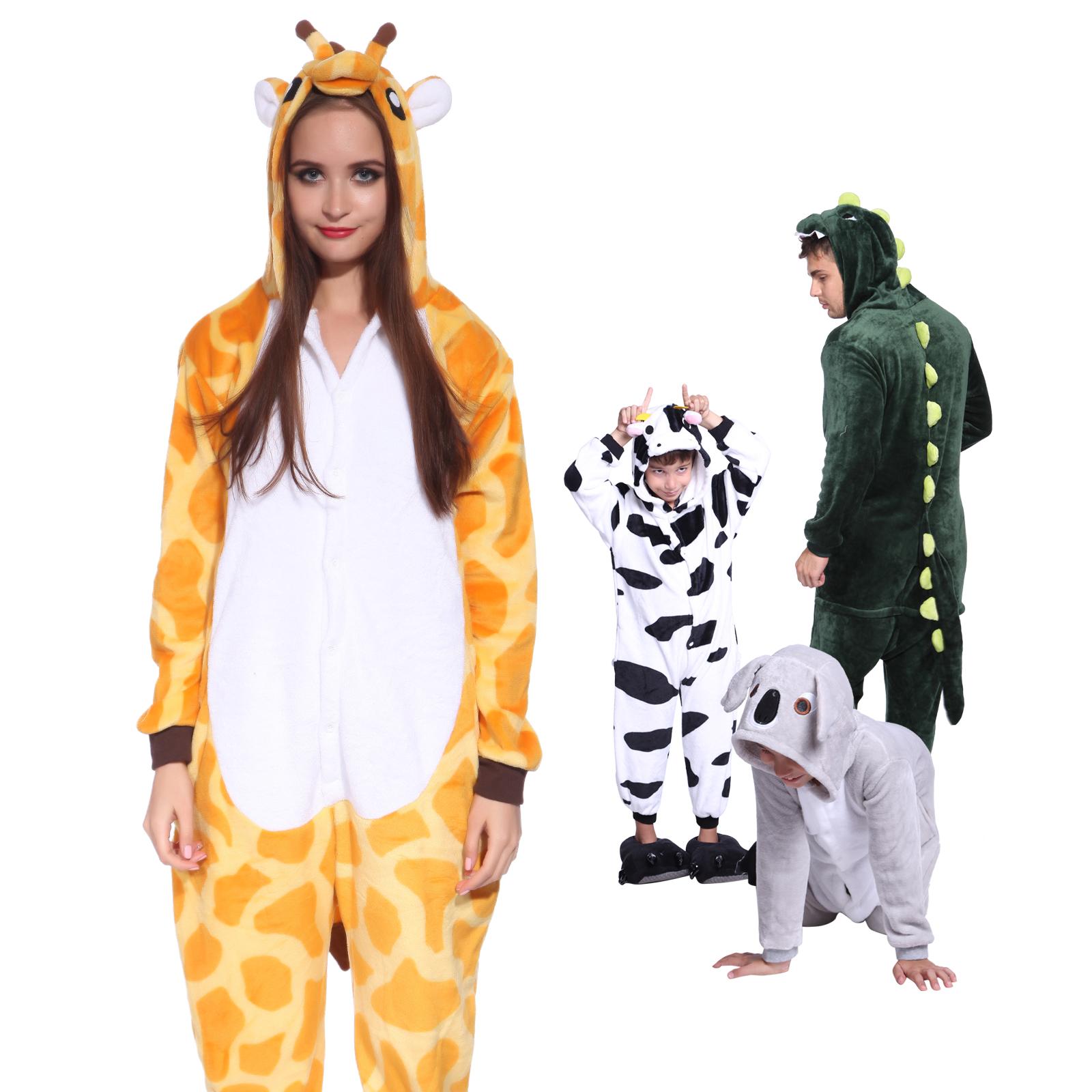faschingkost m schlafanzug tier kost me karneval giraffe. Black Bedroom Furniture Sets. Home Design Ideas