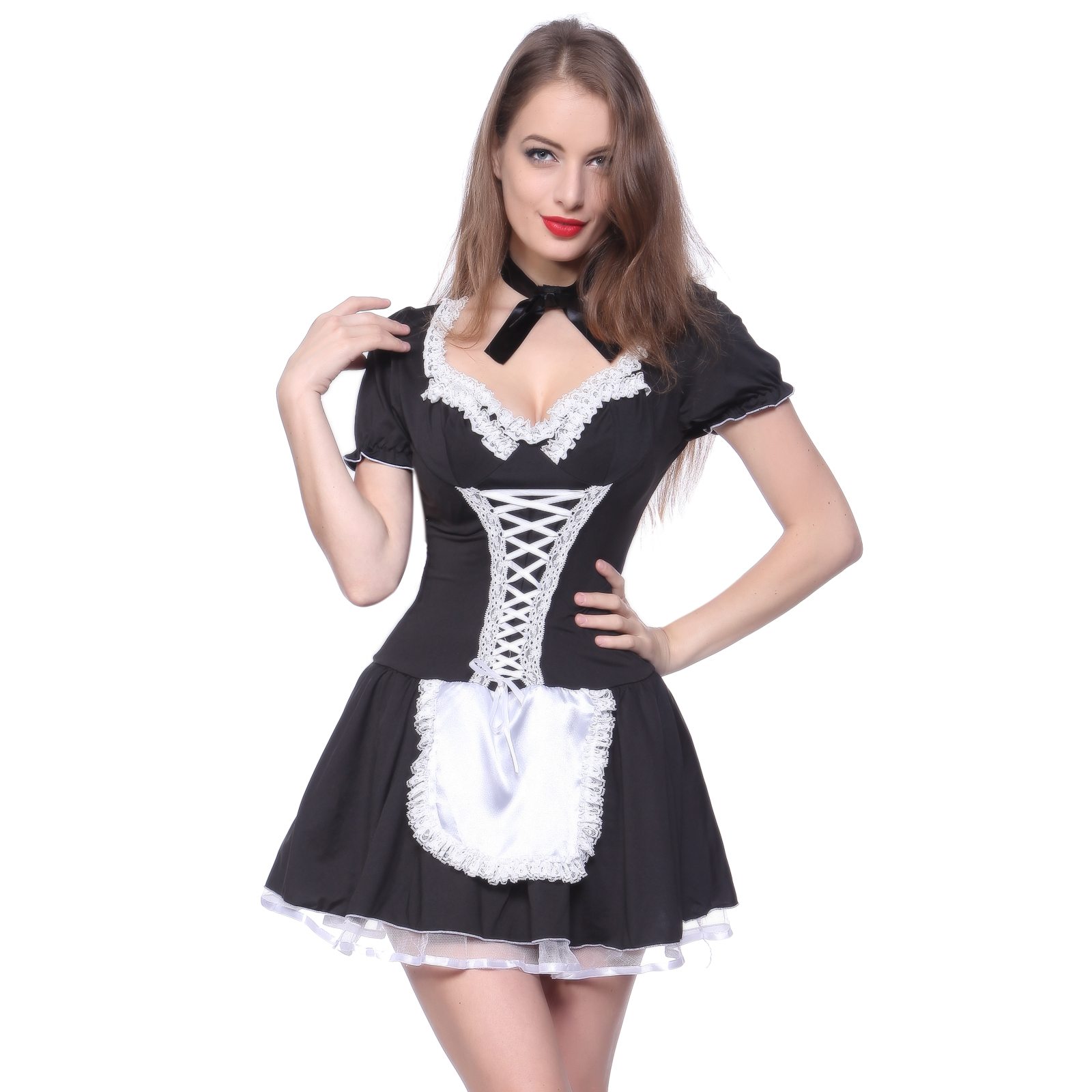 sexy french maid costume naughty outfit party dress fancy