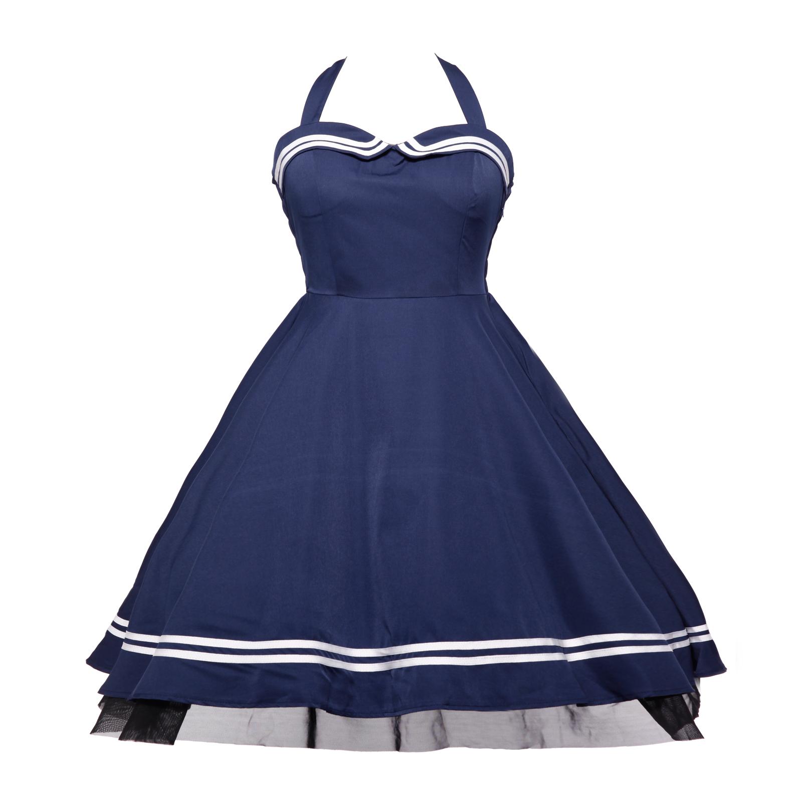 rockabilly 50er jahre kleid petticoat polka dot abendkleid. Black Bedroom Furniture Sets. Home Design Ideas