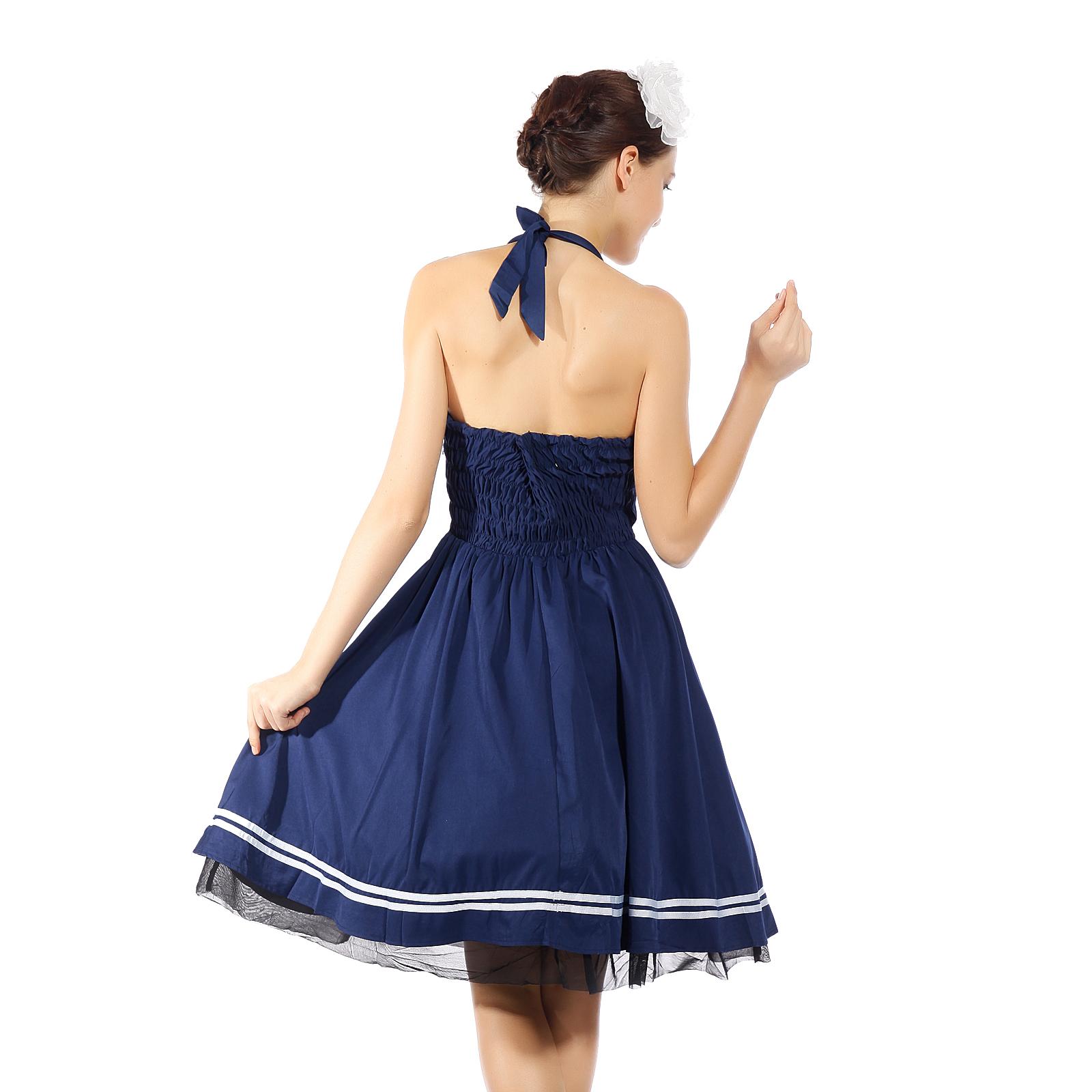 50er jahre kleid petticoat abendkleid neckholder karneval. Black Bedroom Furniture Sets. Home Design Ideas