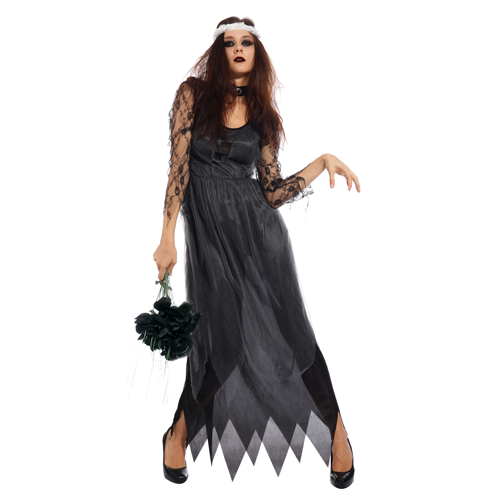 Ladies halloween horror zombie corpse bride dead scary for Corpse bride wedding dress for sale