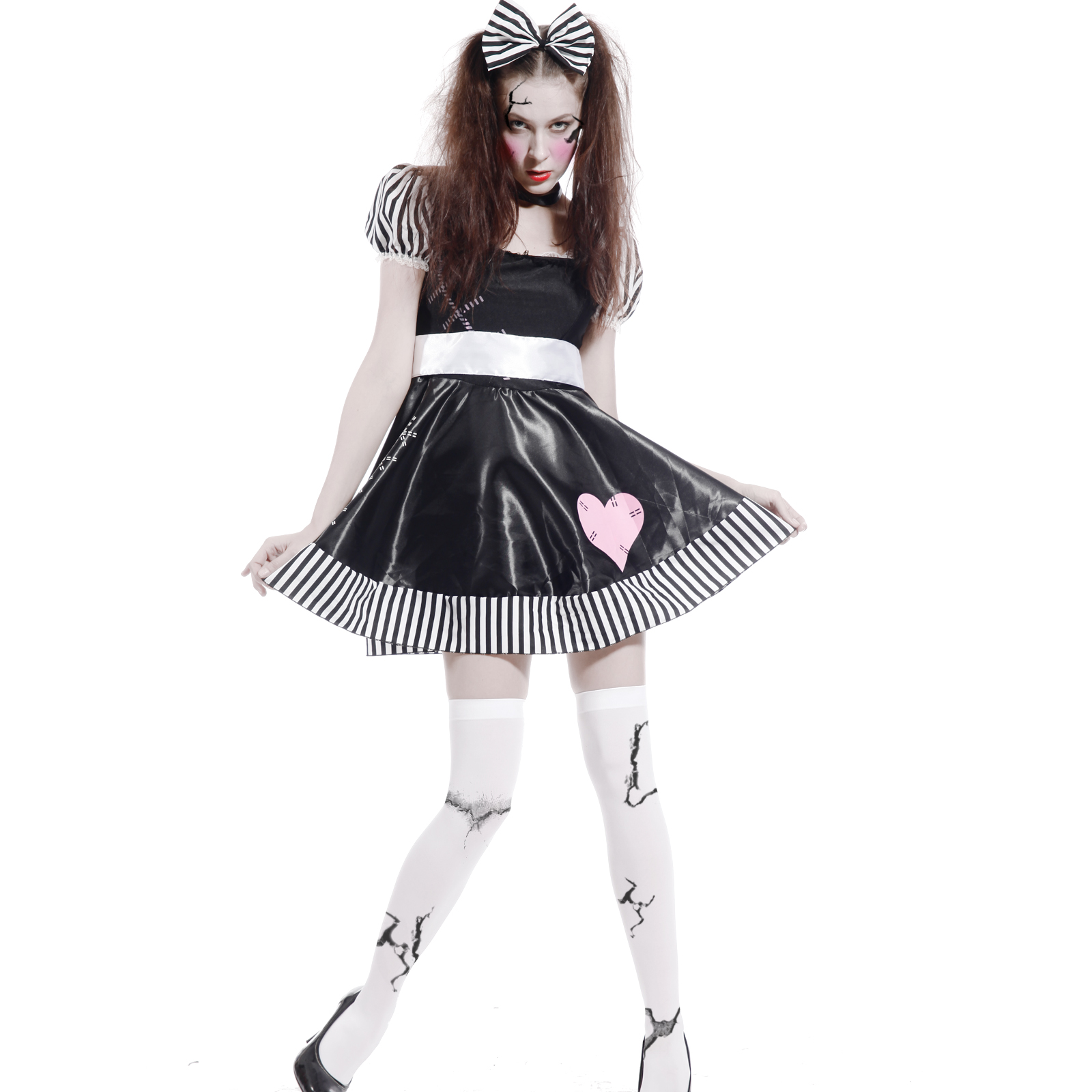 Ladies Halloween Horror Broken Baby Doll Zombie Fancy