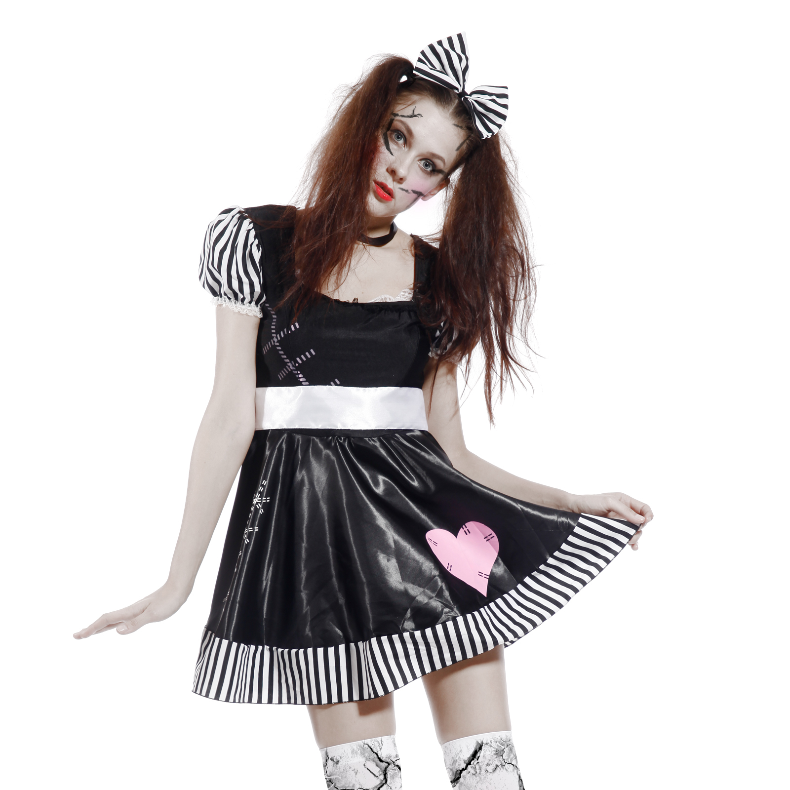 broken porcelain doll halloween costume - more information - kopihijau