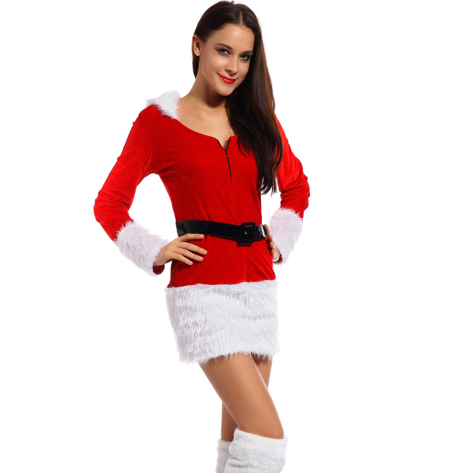 erwachsene kost m weihnachtsfrau kleid weihnachten kleider. Black Bedroom Furniture Sets. Home Design Ideas