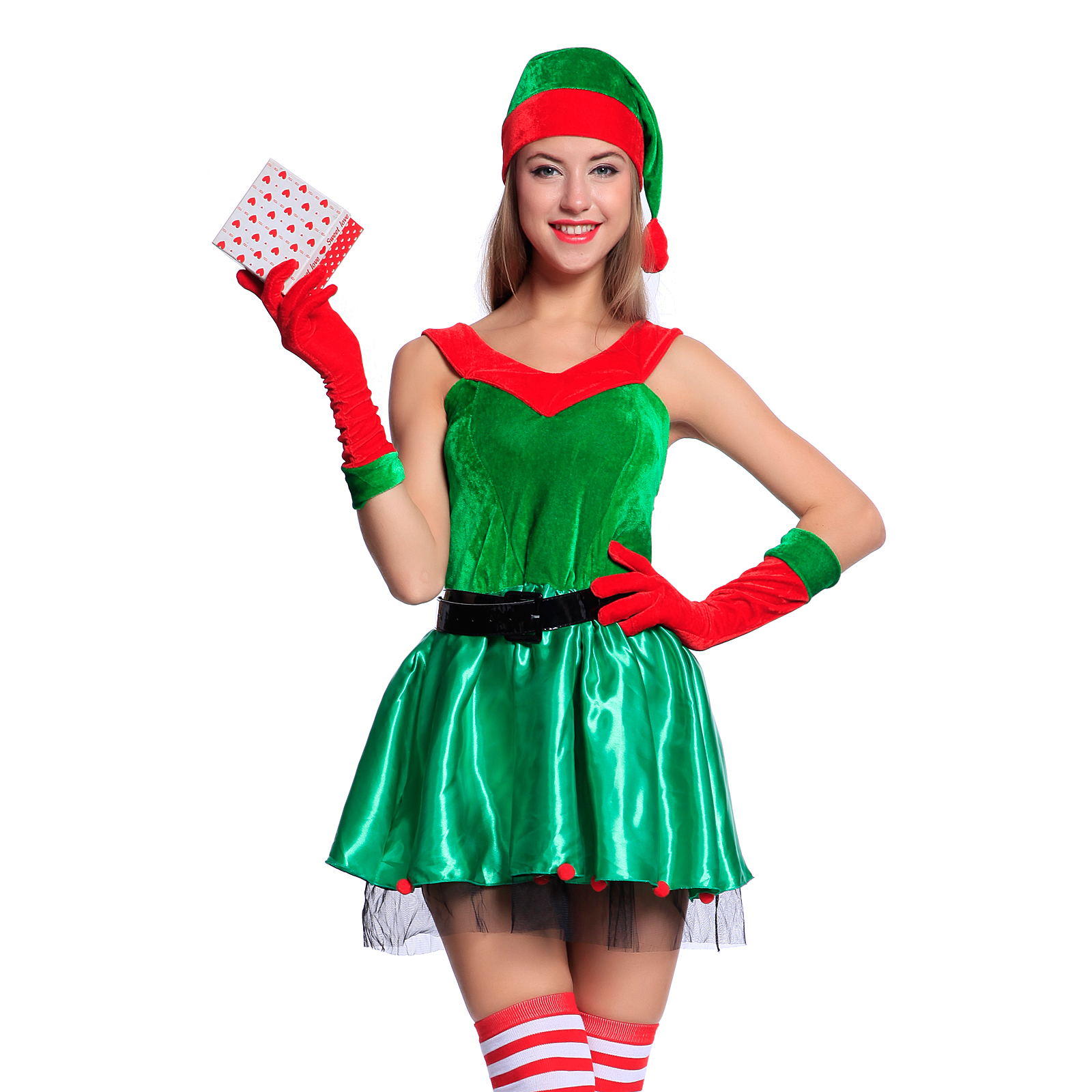 Sexy womens miss santa claus costume christmas elf reindeer olaf fancy