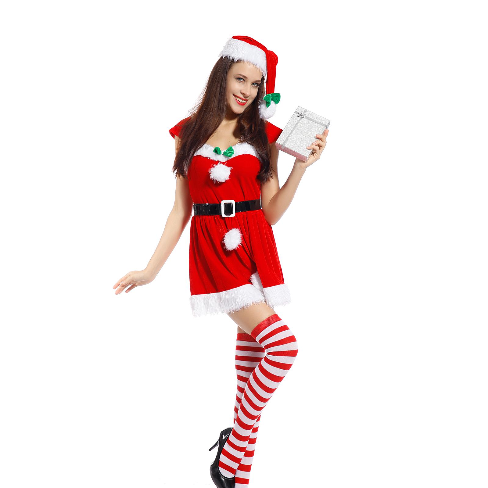 weihnachtself weihnachten kost m damen santa nikolaus elf. Black Bedroom Furniture Sets. Home Design Ideas