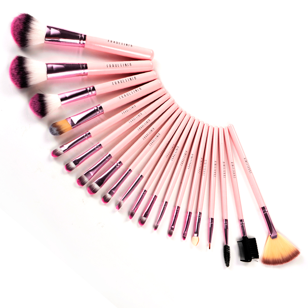 fr ulein 38 20 pink pinsel brush make up set mit rosa. Black Bedroom Furniture Sets. Home Design Ideas