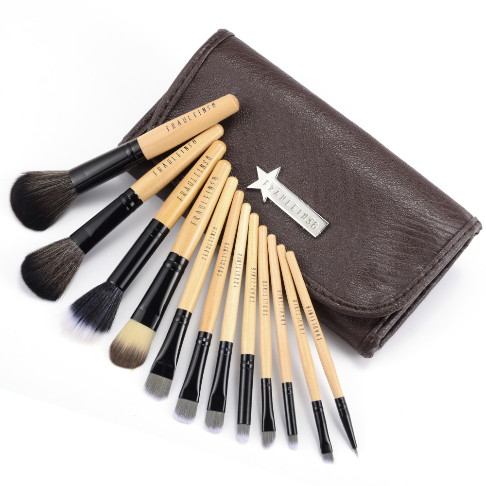 12 pinsel elegant pinsel set brush make up set kosmetik. Black Bedroom Furniture Sets. Home Design Ideas