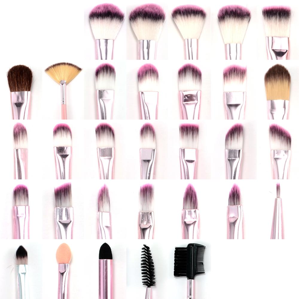 fr ulein 3 8 31er pinselset kosmetik schminkpinsel brush set b rste pink etui ebay. Black Bedroom Furniture Sets. Home Design Ideas