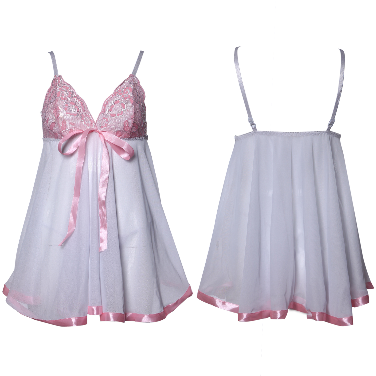 Sexy-Embroidered-Lace-Babydoll-Chemise-Regular-Plus-Size-8-10-12-14-16-22-24-26