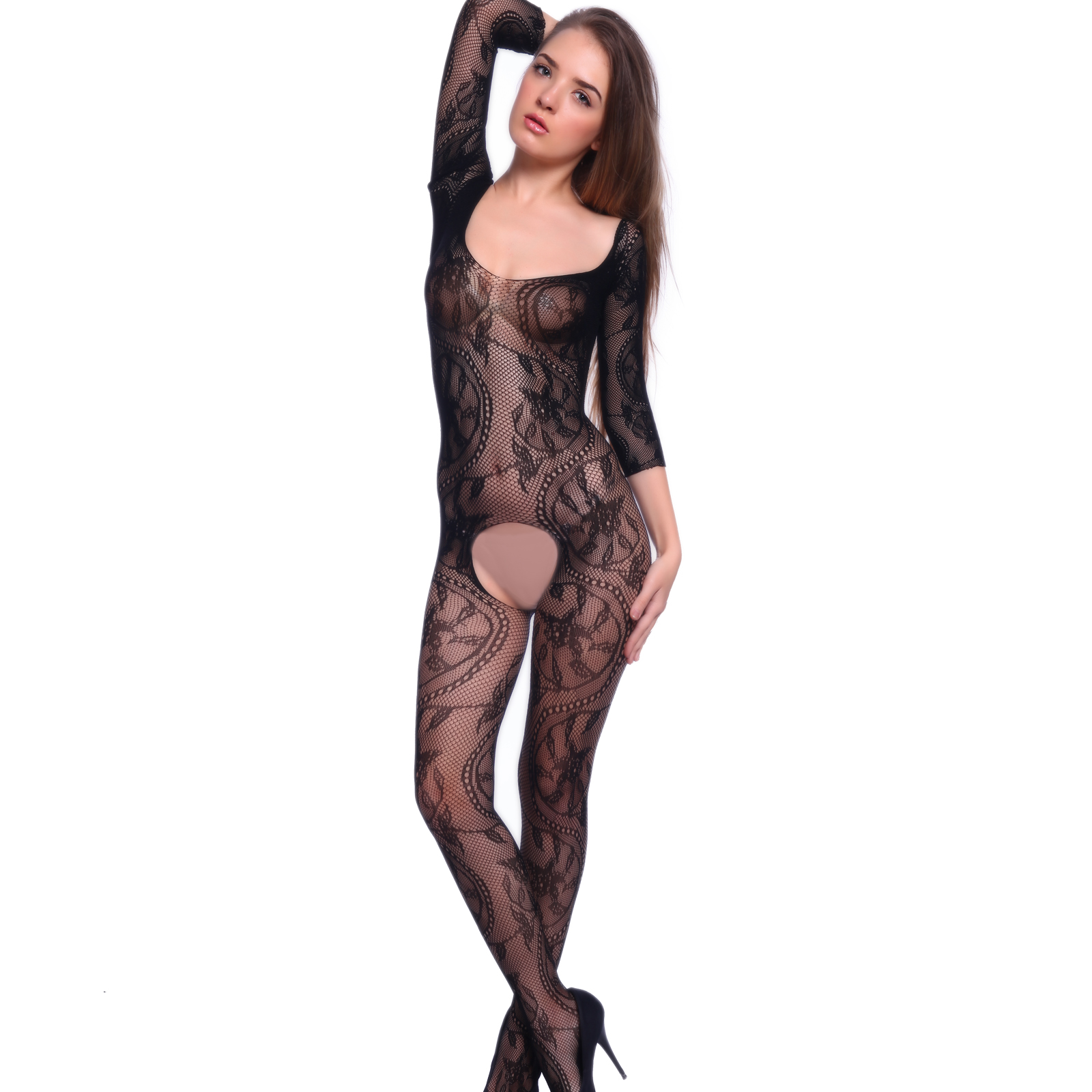 Crotchless body suit