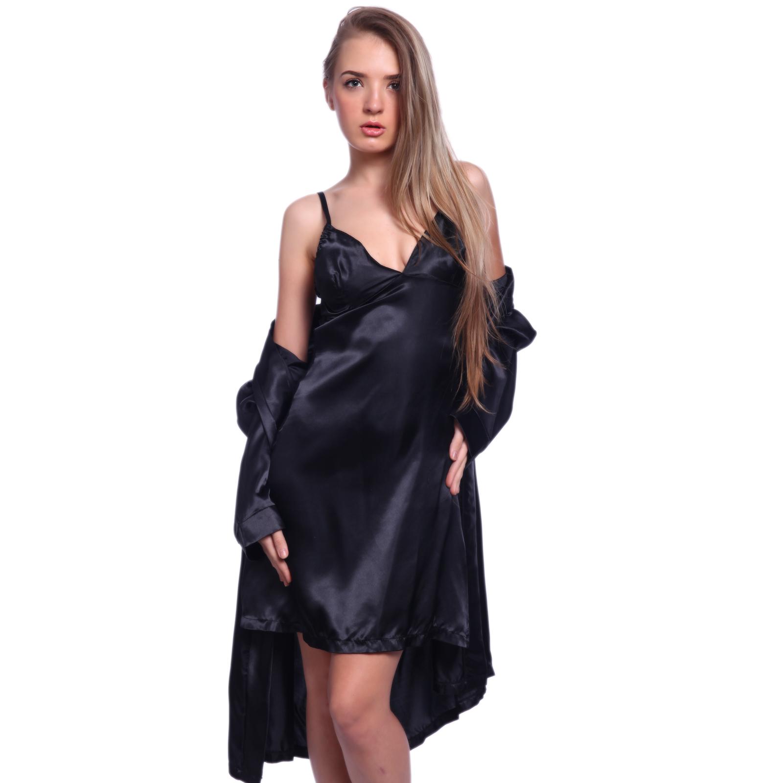 Sexy Satin Slip Lace Back Chemise Sleepwear Lingerie
