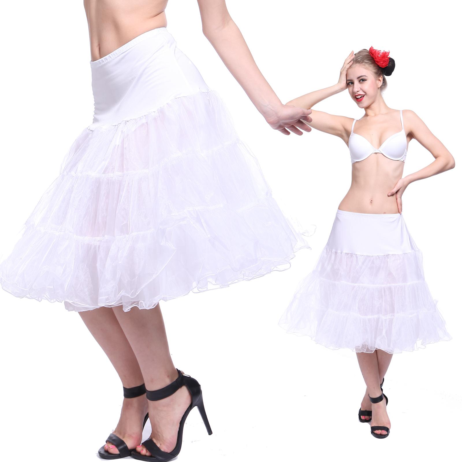 RETRO long bridal prom PETTICOAT slip PETTISKIRT TUTU underskirt