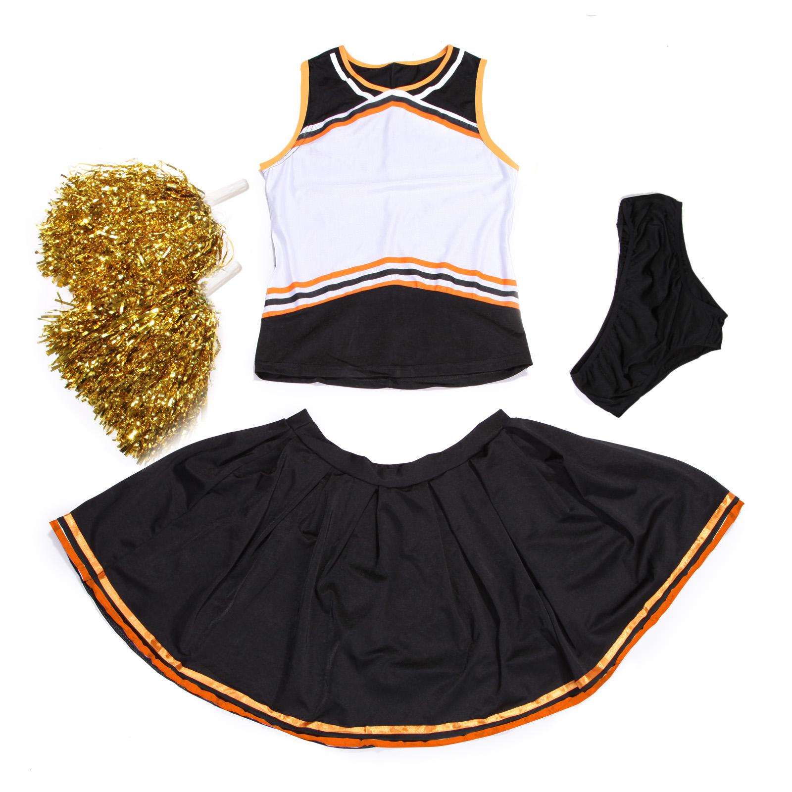 High School Glee Printable Cheerleader Fancy Dress Pompoms