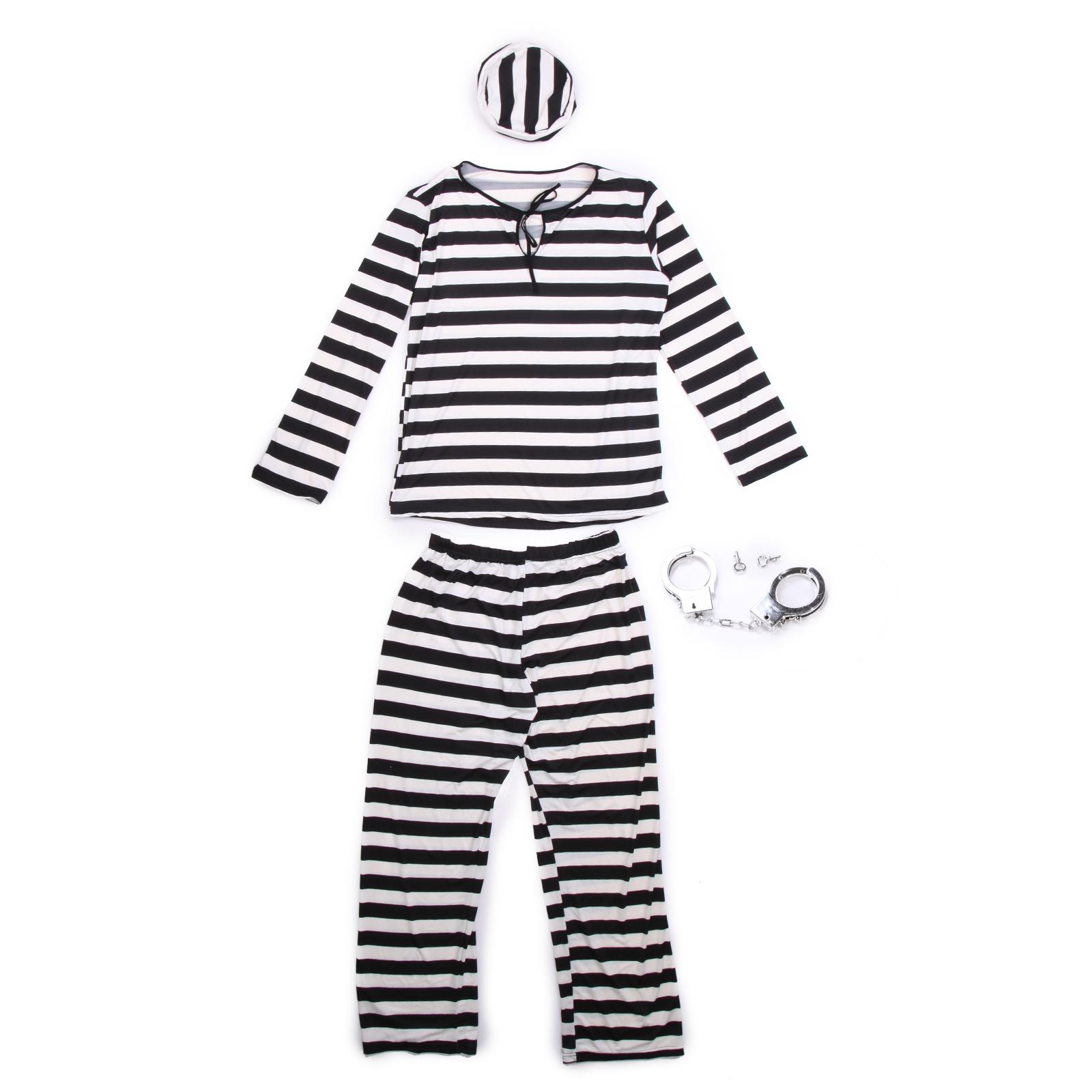 neue gefangene str fling kost m knasti gef ngnis prisoner outfit party halloween ebay. Black Bedroom Furniture Sets. Home Design Ideas